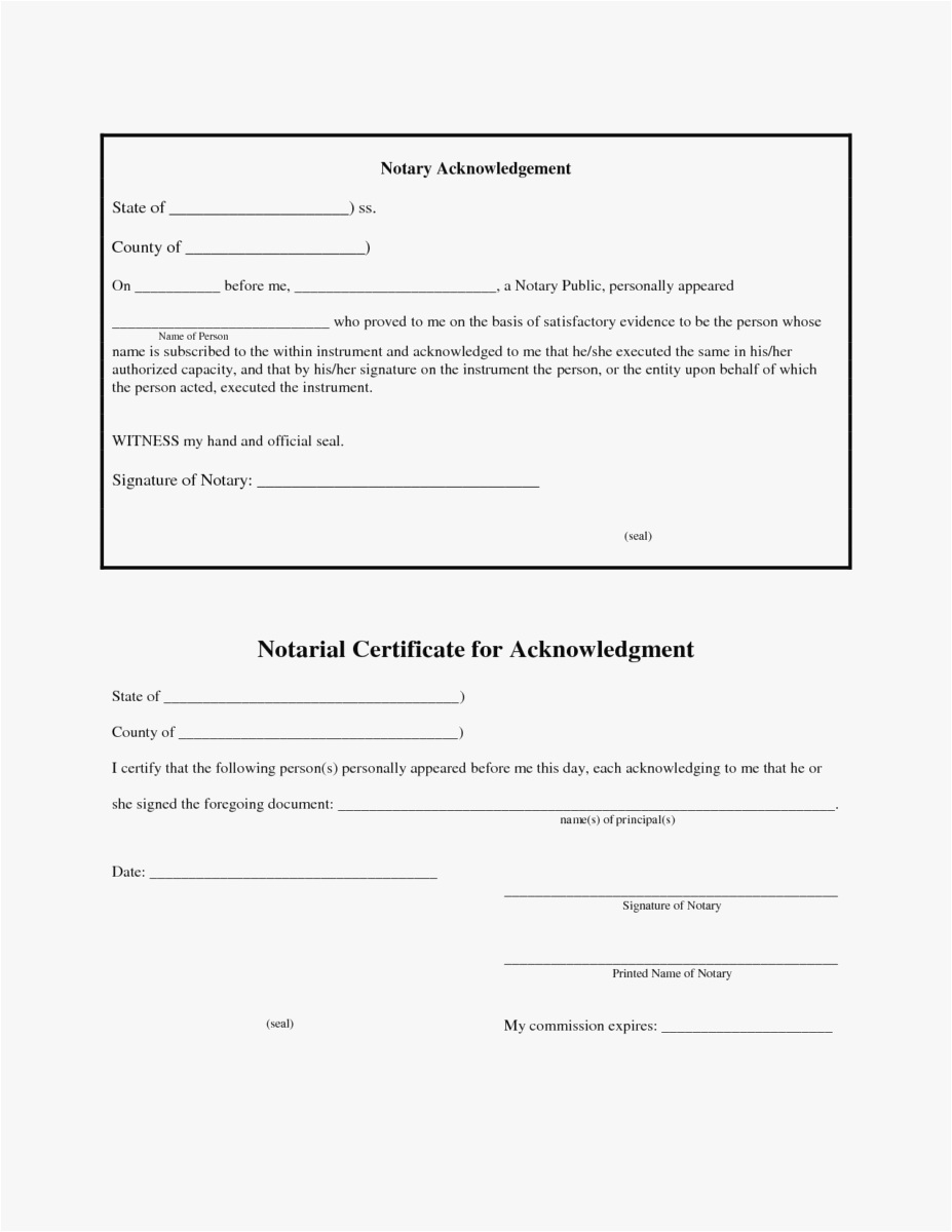 Notary Letter Template - Notary Template format Fresh What is A Notarized Letter