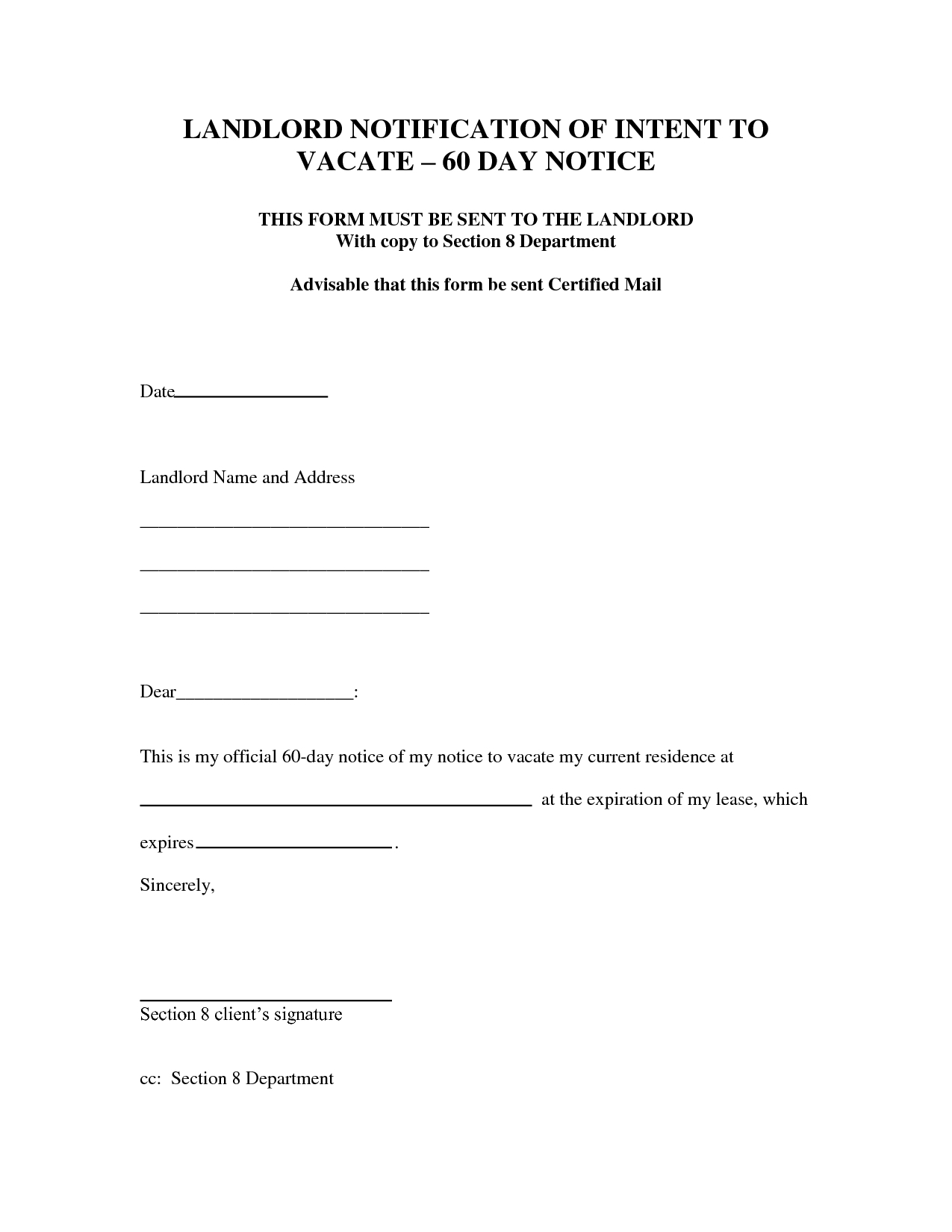 Eviction Letter Template Texas - Notice Intent to Evict Letter Day Eviction Dcbuscharter Co Vacate