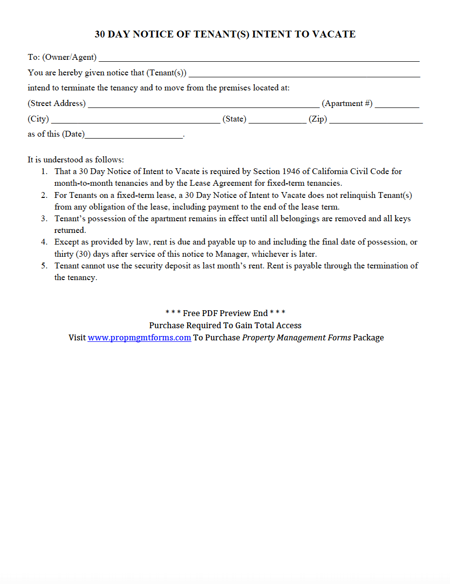 Letter Of Intent to Evict Template - Notice Intent to Evict Letter Day Tenants Vacate Pdf Property