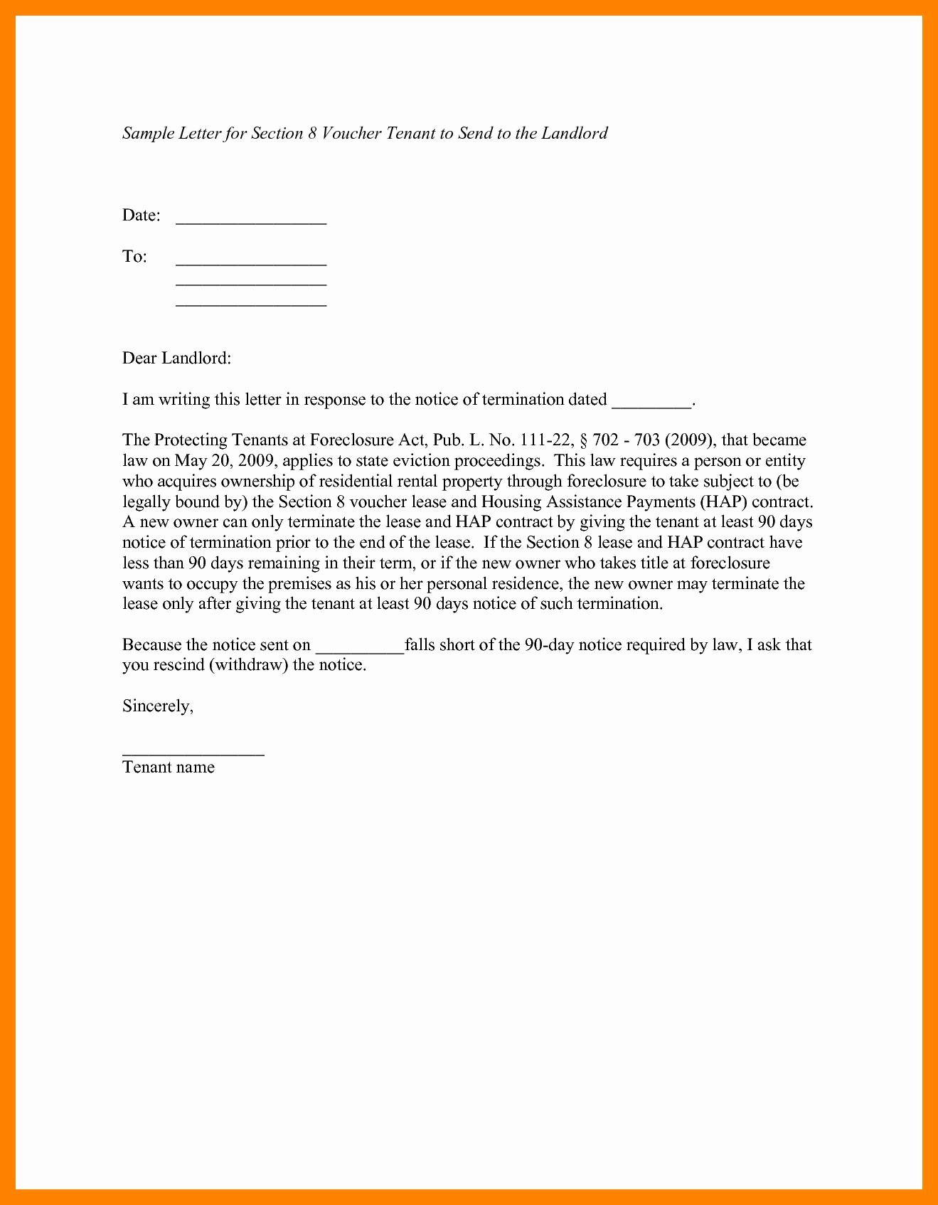 Giving Notice To Tenants Letter Template Collection Letter