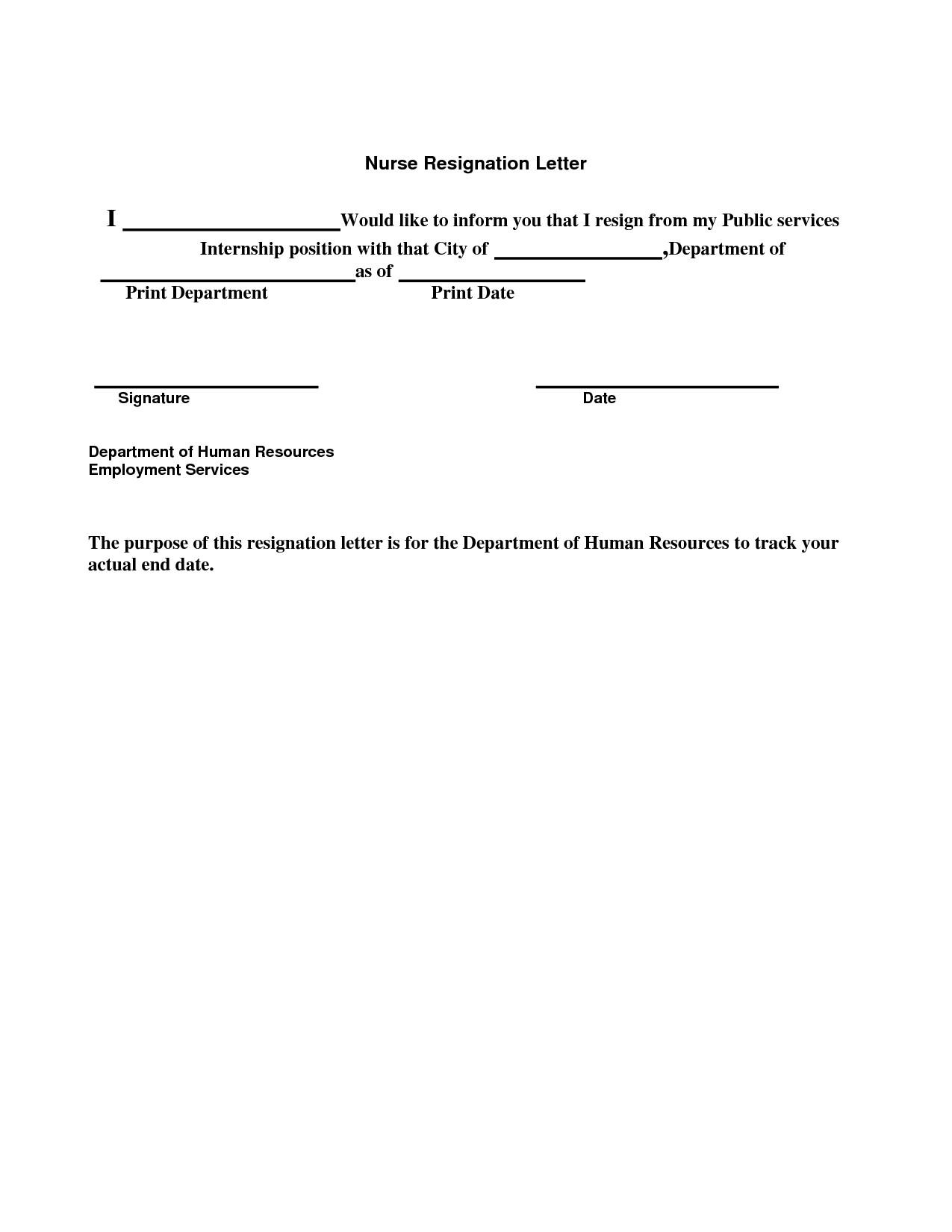 Letter Of Resignation Nursing Template - Nursing Job Resignation Letter Valid Resignation Letter Nurse Sample