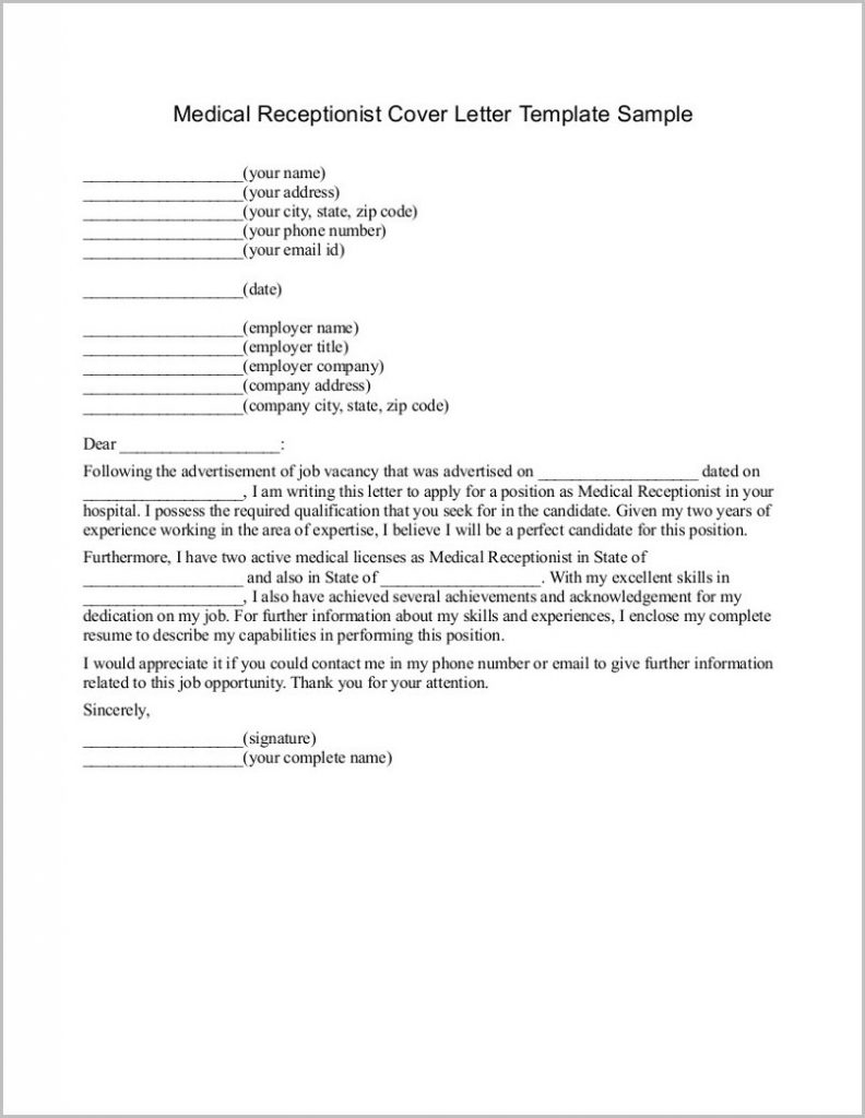Receptionist Cover Letter Template - Open Template for Free Hvac Resume Template Free Sample Resume