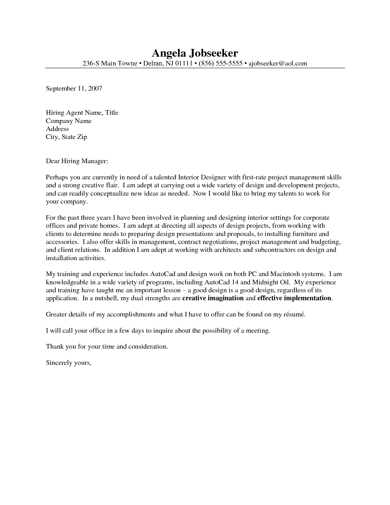 Mac Pages Cover Letter Template Examples | Letter Template Collection