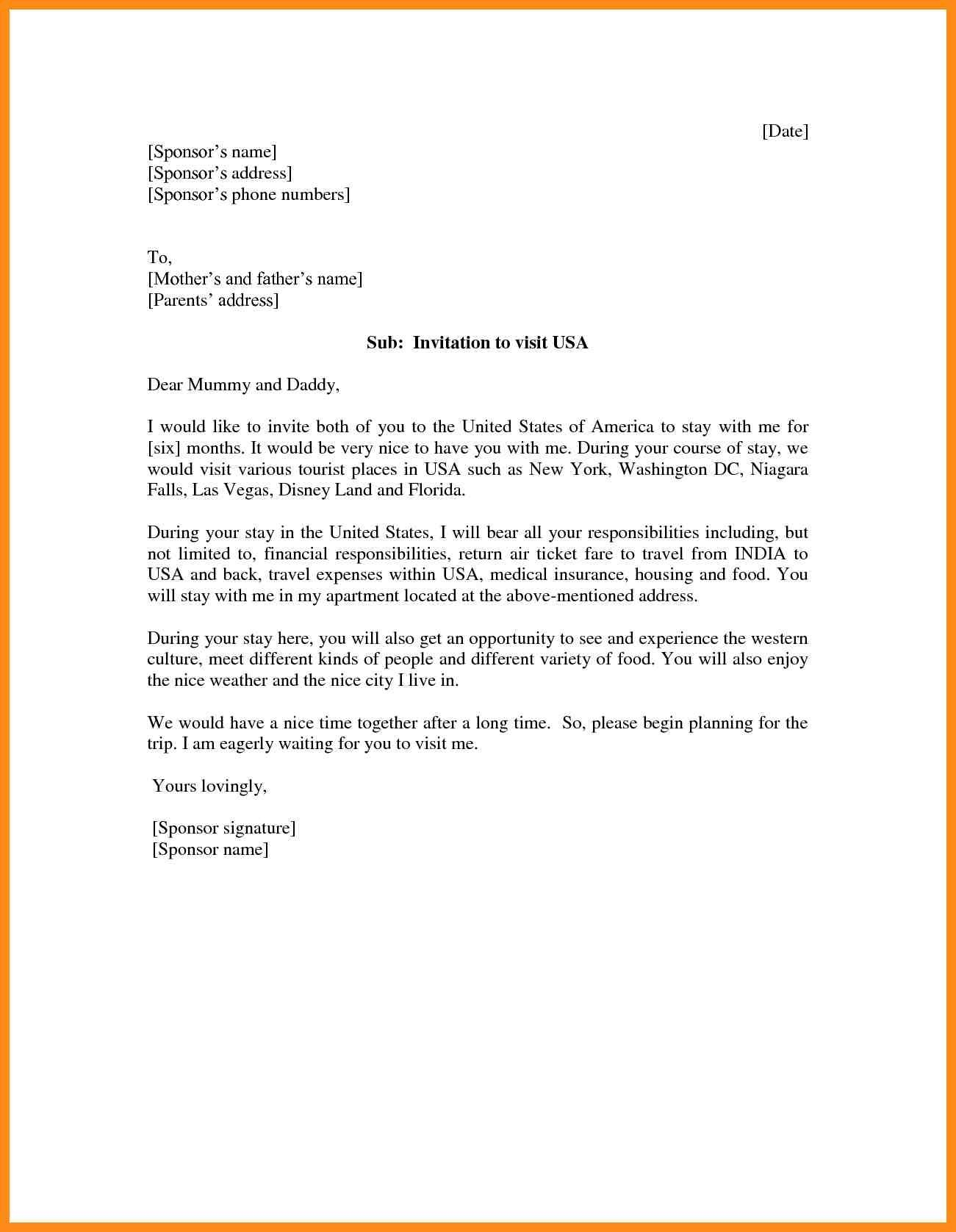 template for invitation letter for us visa pany letter format for us visa copy 15