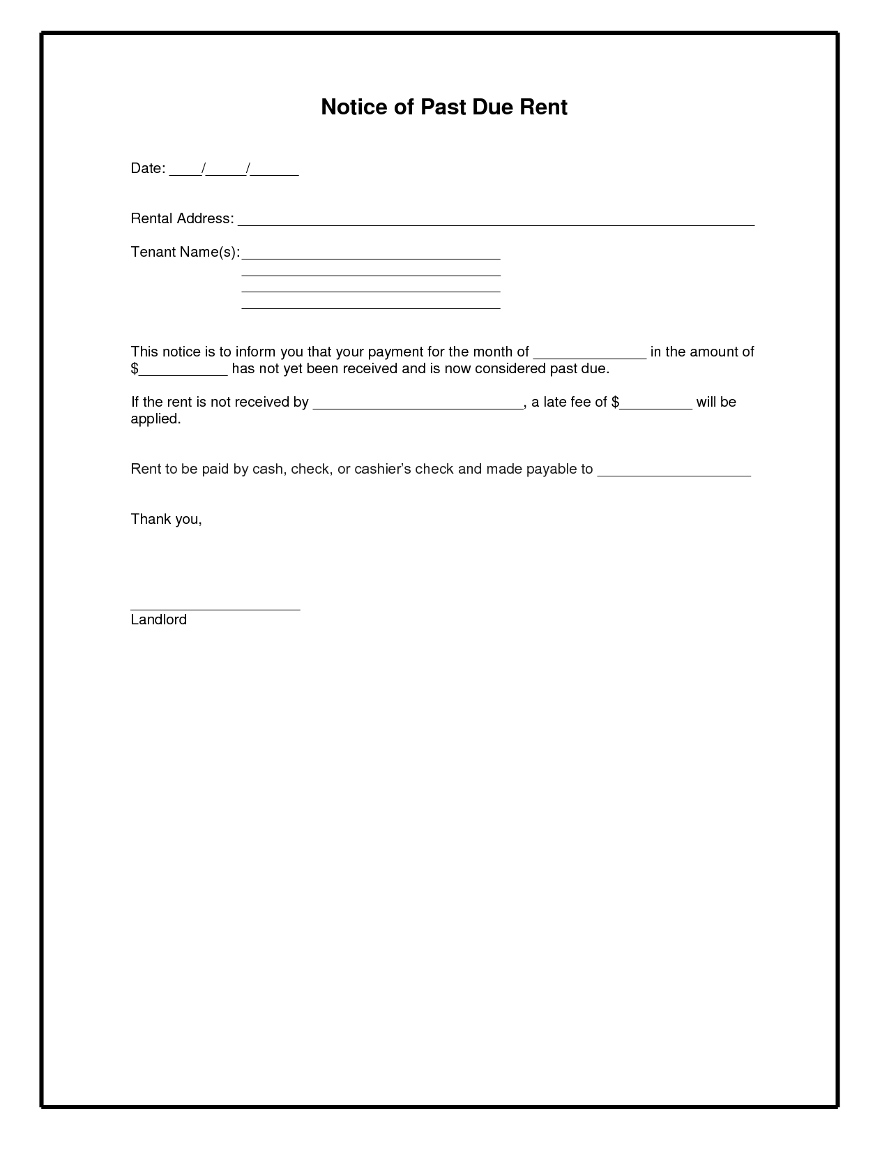 past due letter template past due rent letter template examples letter template 13756