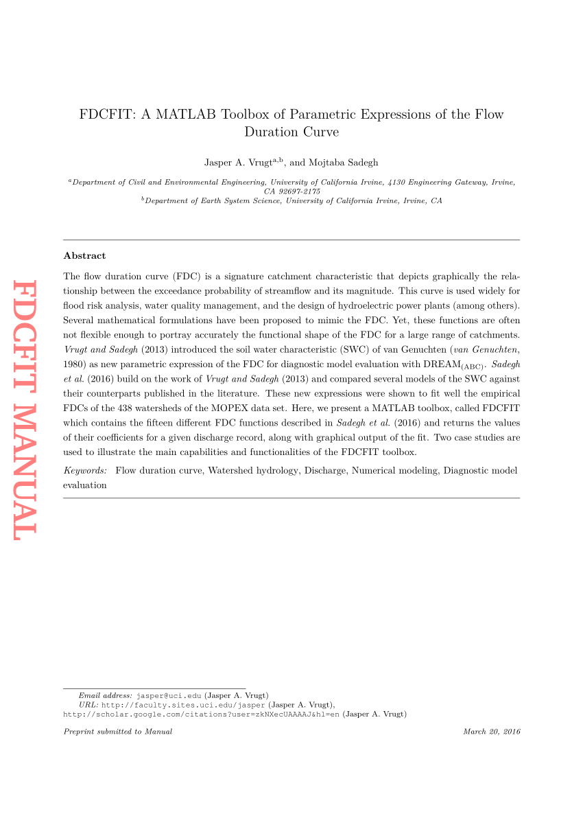 Curves Cancellation Letter Template - Pdf Fdcfit Manual Fdcfit A Matlab toolbox Of