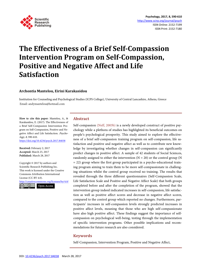 Compassion Letter Writing Template - Pdf the Effectiveness Of A Brief