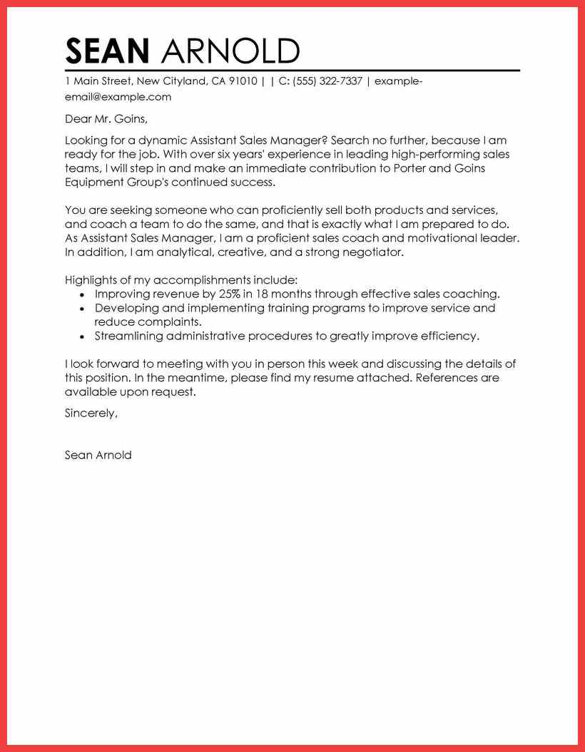Warehouse Manager Cover Letter Template Collection | Letter ...