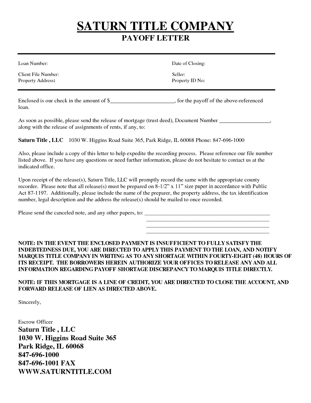 Mortgage Loan Payoff Letter Template - Personal Loan Repayment Letter Sample Koikoikoi Personal Loan
