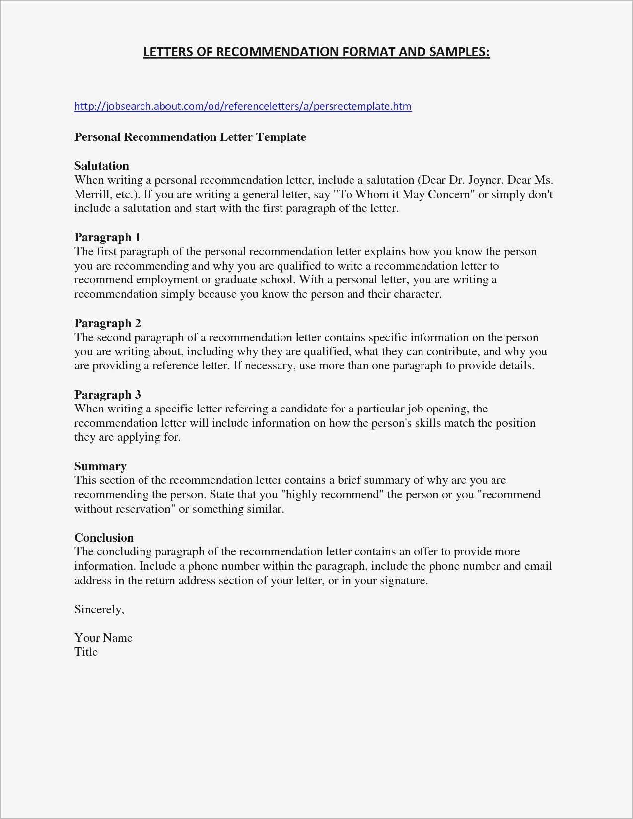 School Recommendation Letter Template - Personal Reference Letter for Job Valid Sample Personal Reference
