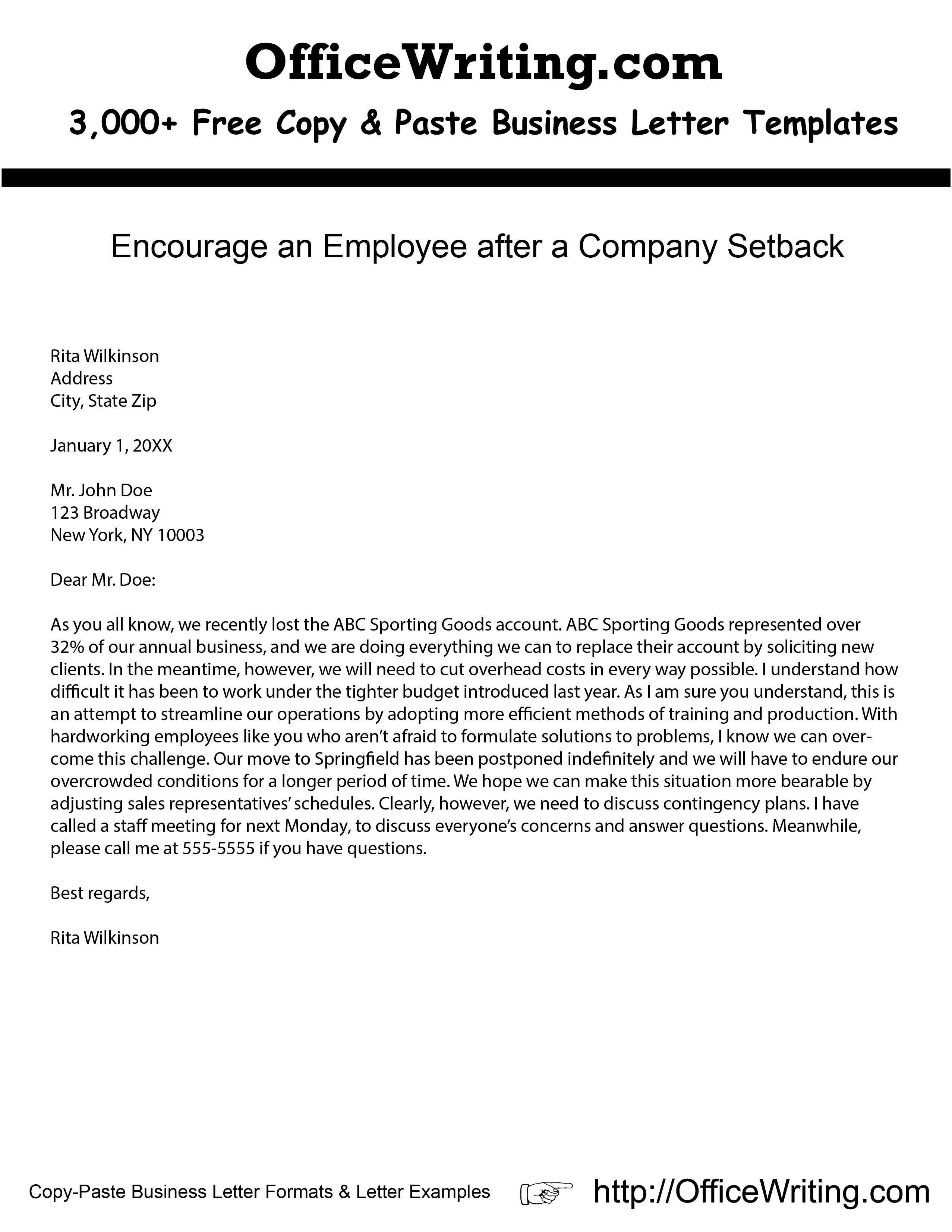 Company Letter Template - Pin by Cherrell Bovain On Business Letters Pinterest