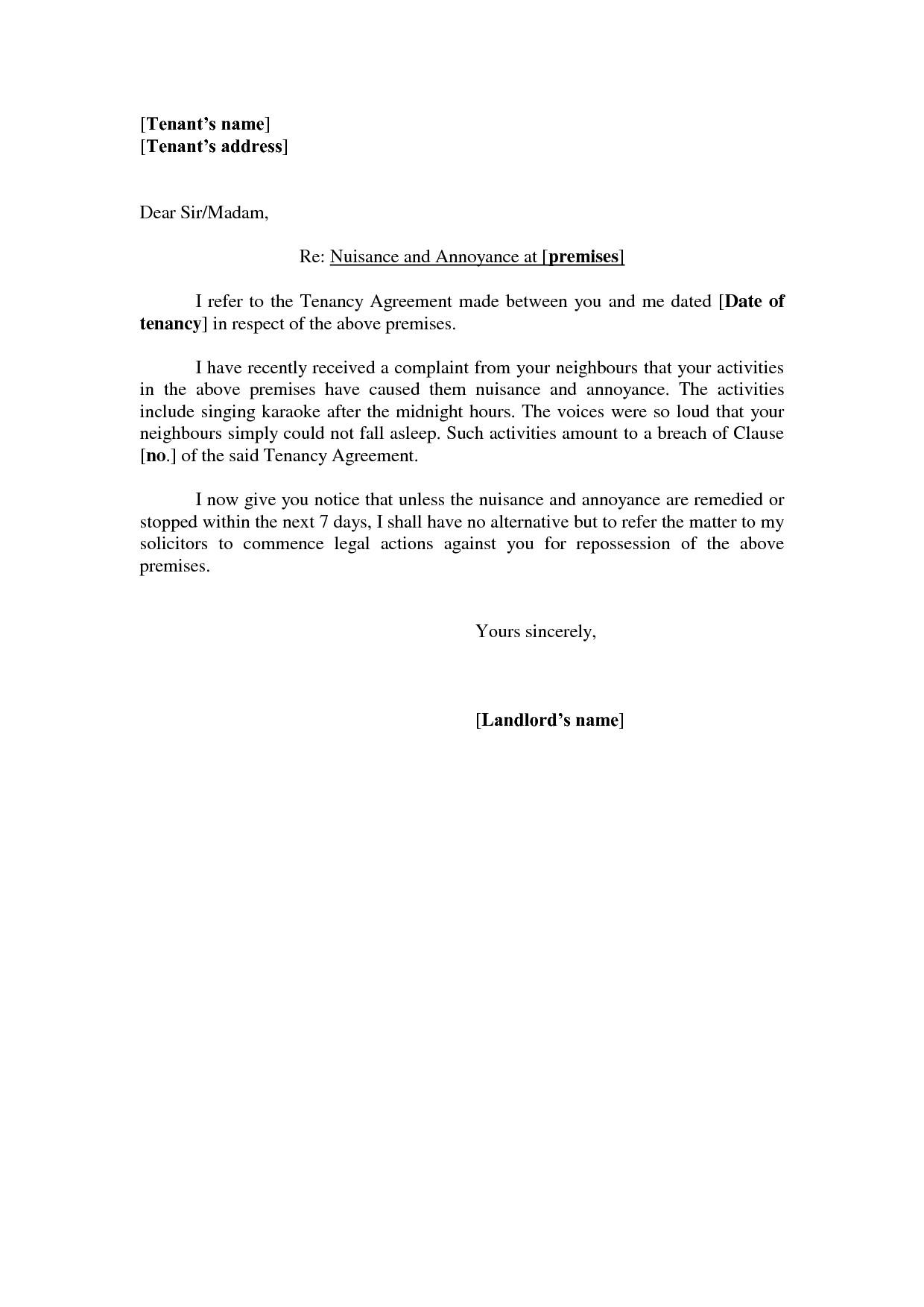 Neighbour Complaint Letter Template - Plaint Letter format for Bad Behaviour Valid Noise Plaint Letter