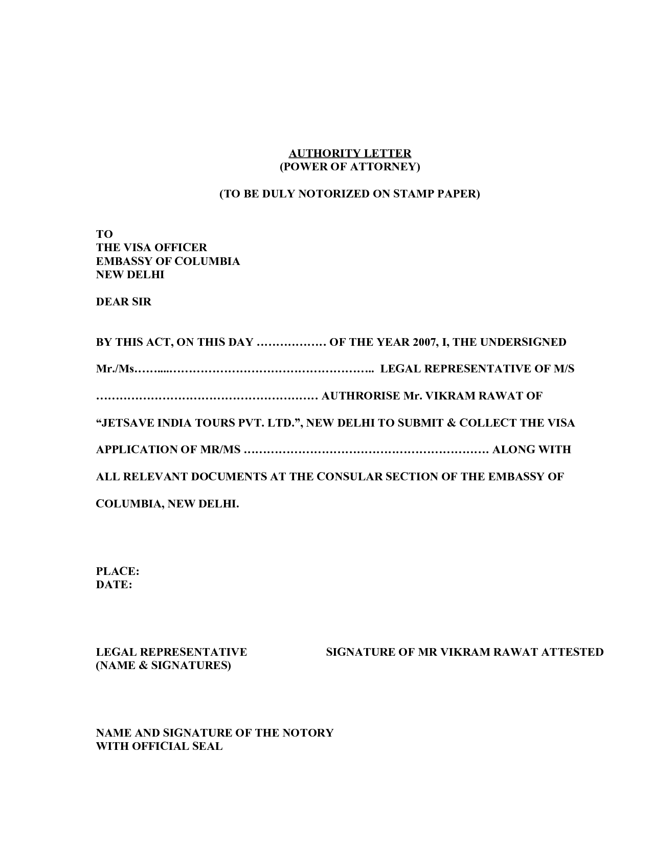 Power Of attorney Letter Template - Poa Letter Template Acurnamedia