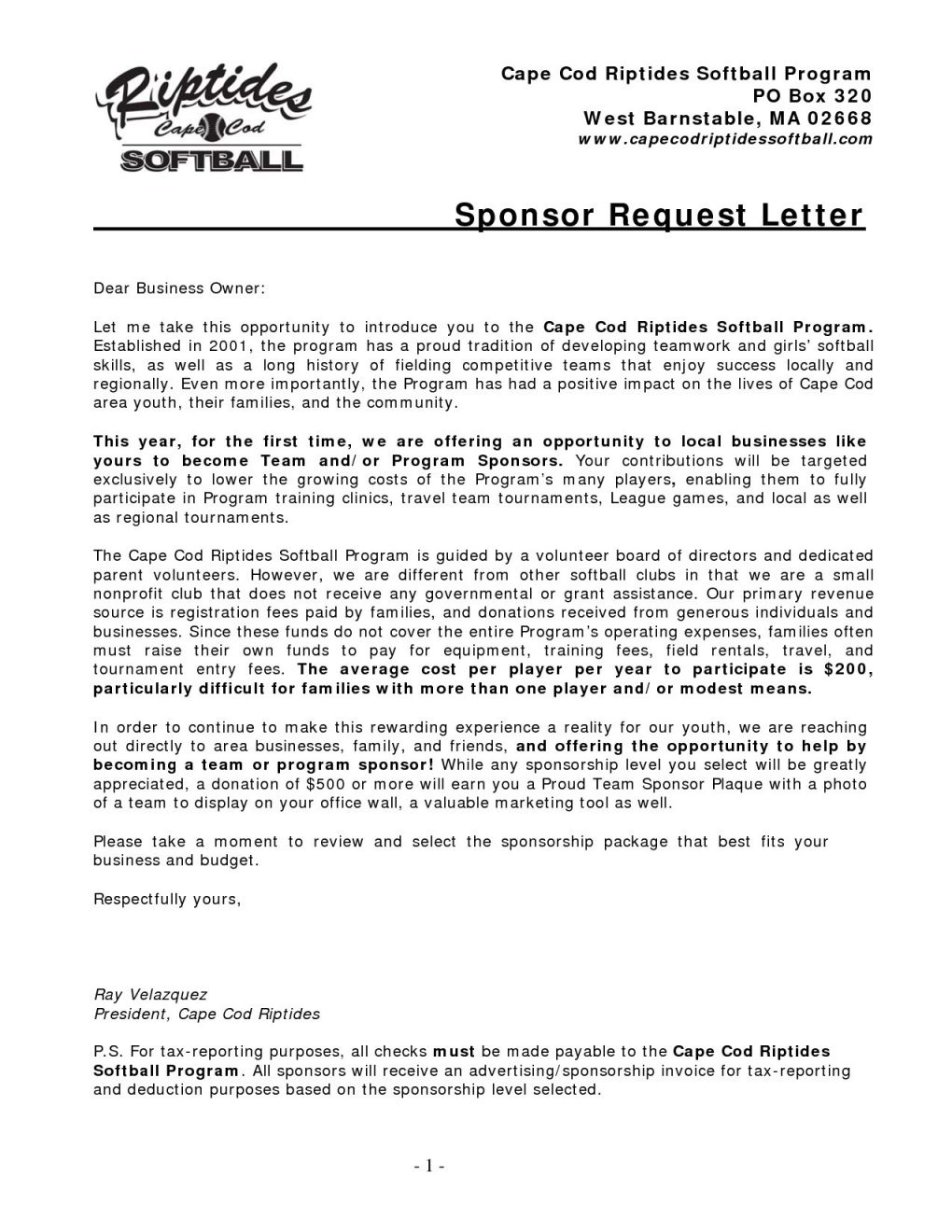 Softball Sponsorship Letter Template - Popular Letter asking for Sponsors Nh84 – Documentaries for Change