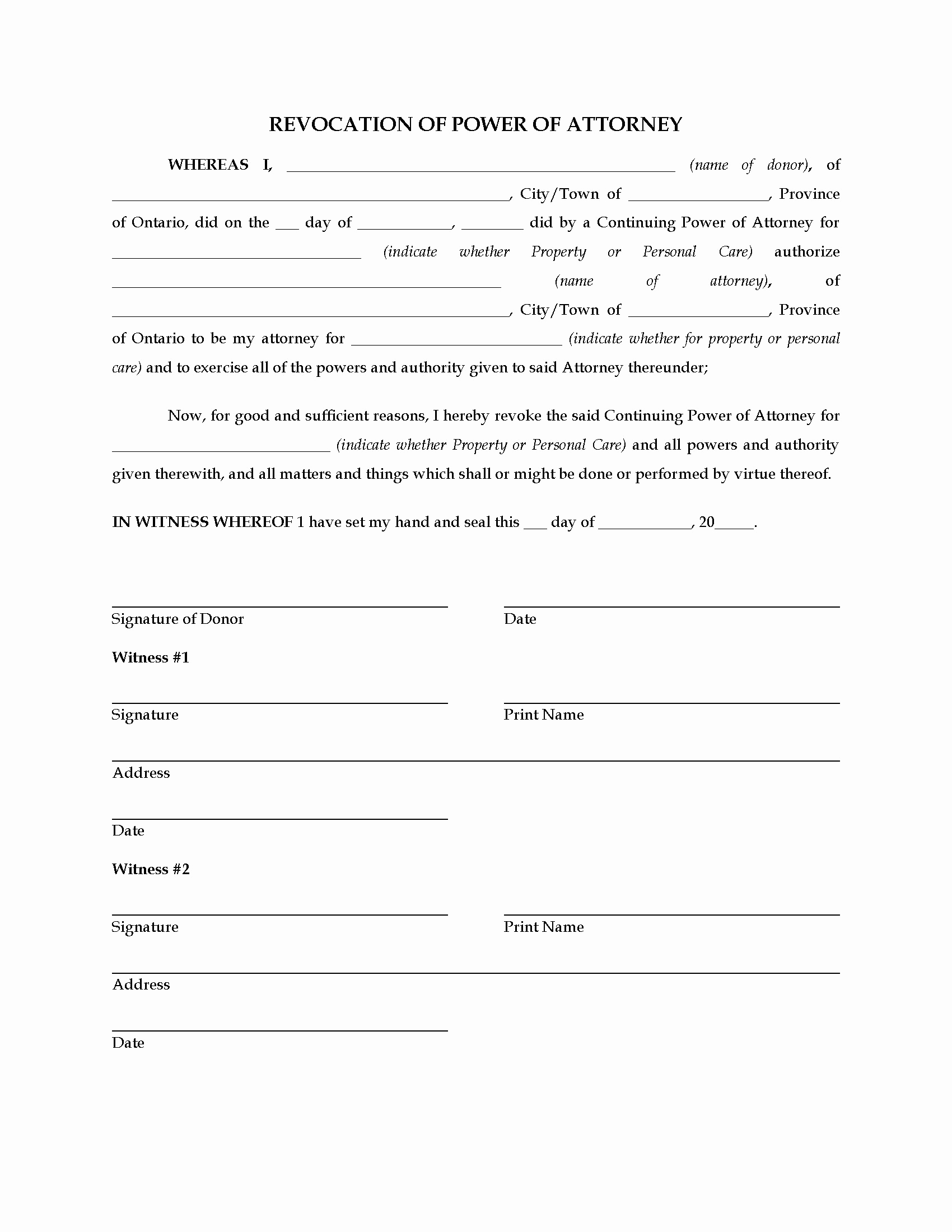 Power Of Attorney Resignation Letter Template Samples Letter