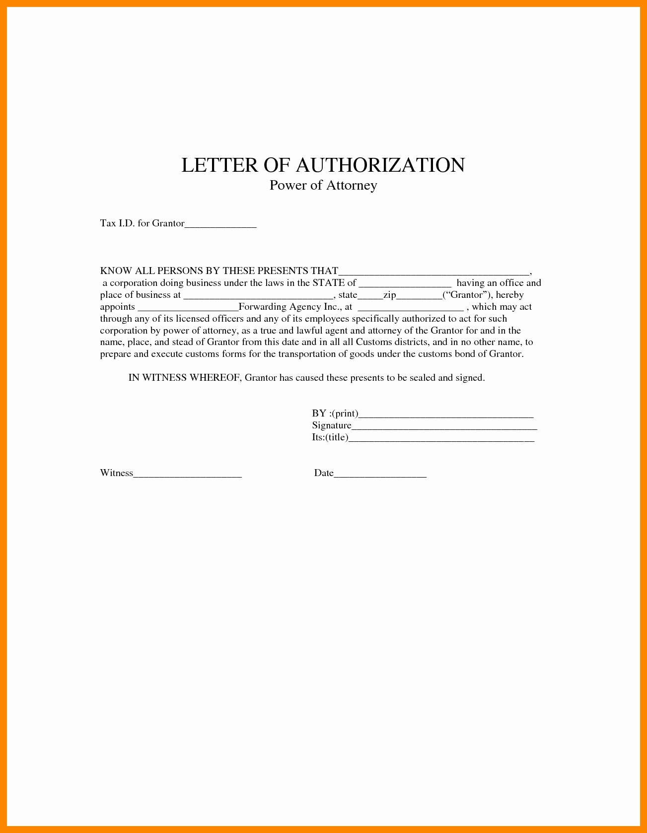 How to Write A Power Of attorney Letter Template - Power Of attorney Letter Sample Acurnamedia