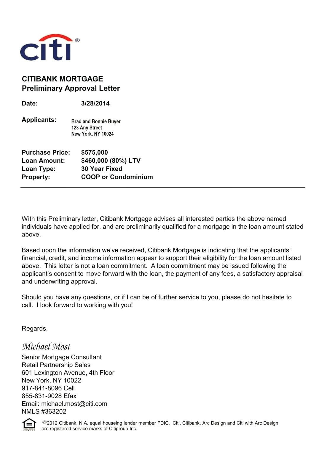 Mortgage Loan Approval Letter Template Samples | Letter Template