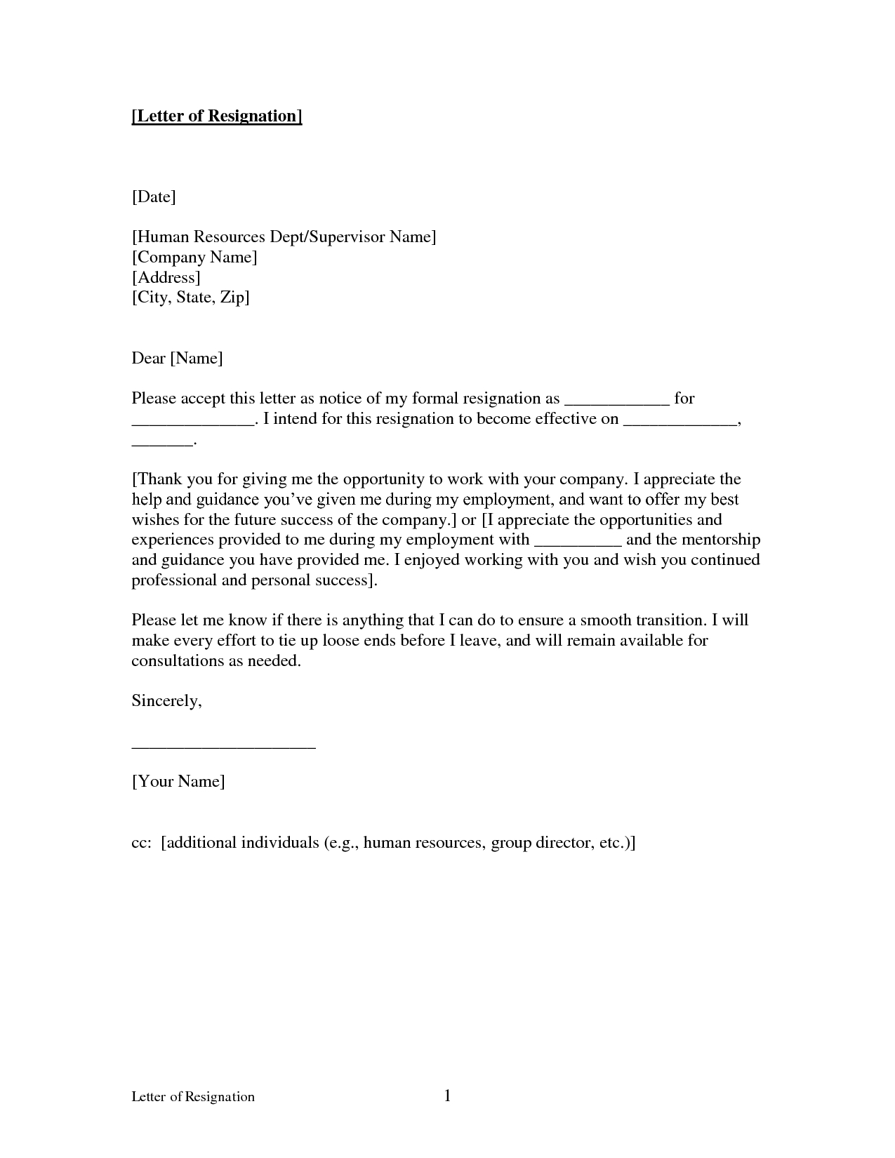 Letter Of Intent to Take Legal Action Template - Printable Sample Letter Of Resignation form
