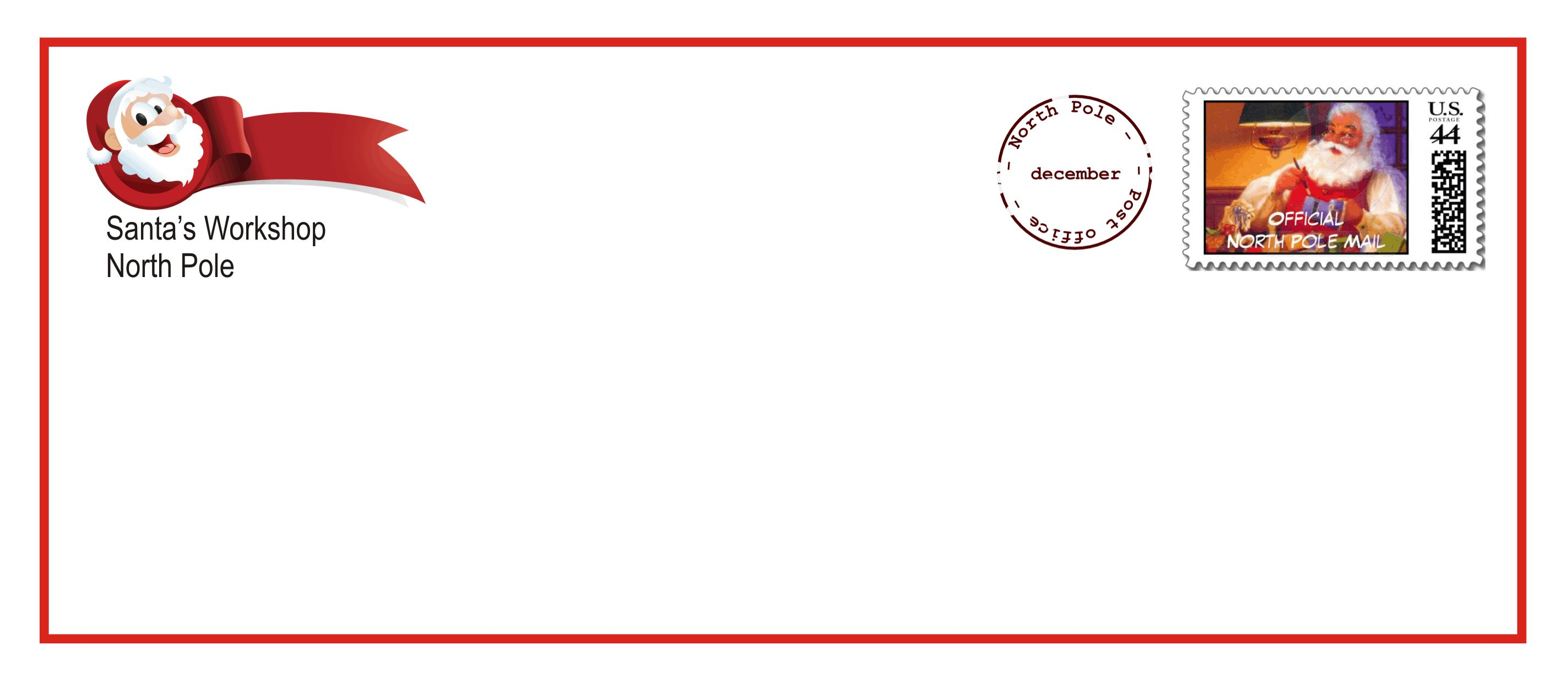 Santa Claus Letter Template - Printable Santa Letter Envelopes that E with the Upgraded Letter