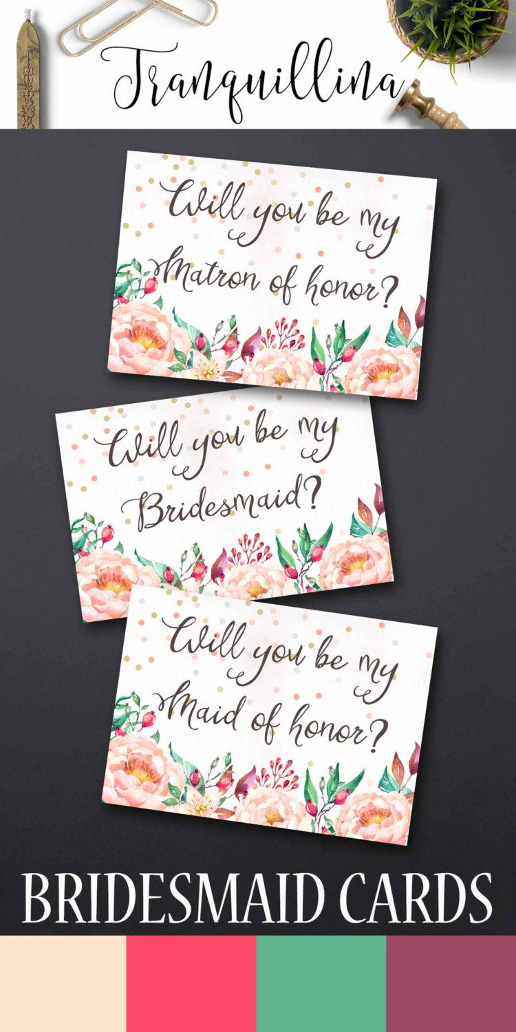 Will You Be My Bridesmaid Letter Template - Printable Will You Be My Bridesmaid Printable Bridesmaid Card