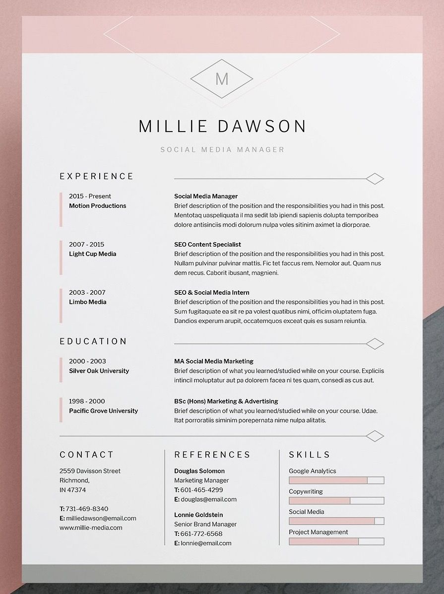 Indesign Letter Template Samples
