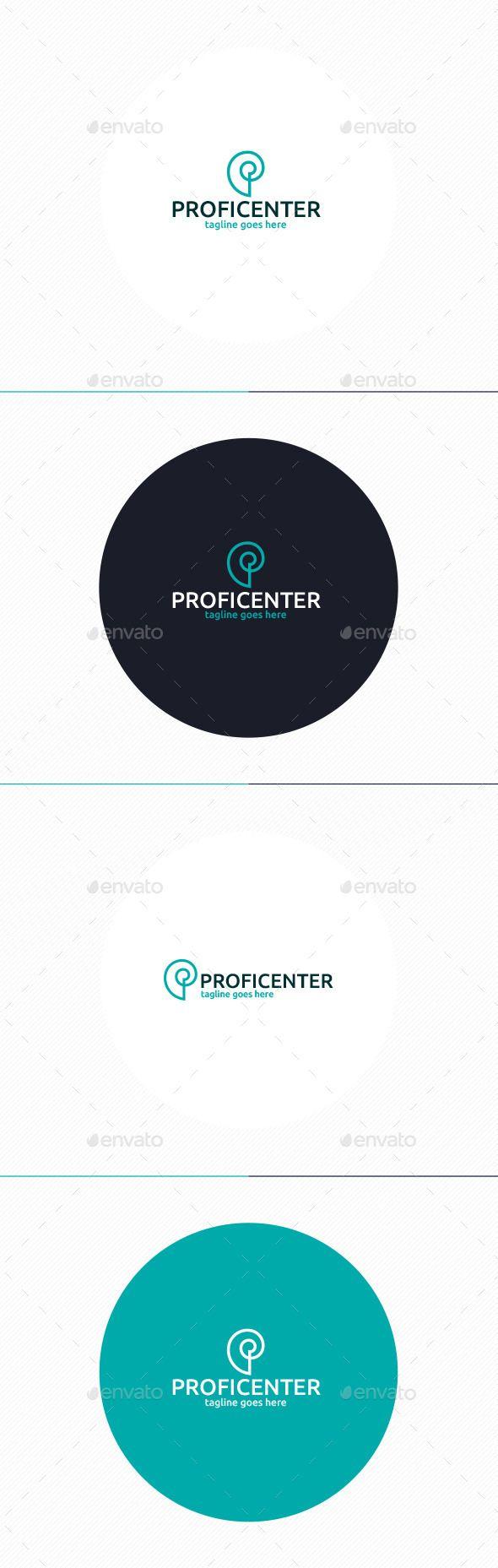 Letter Logo Template - Profi Center Logo • Letter P