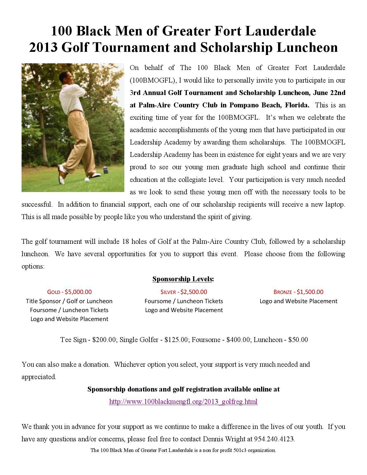 Golf tournament Sponsorship Letter Template - Program Sponsorship Things On Flipboard