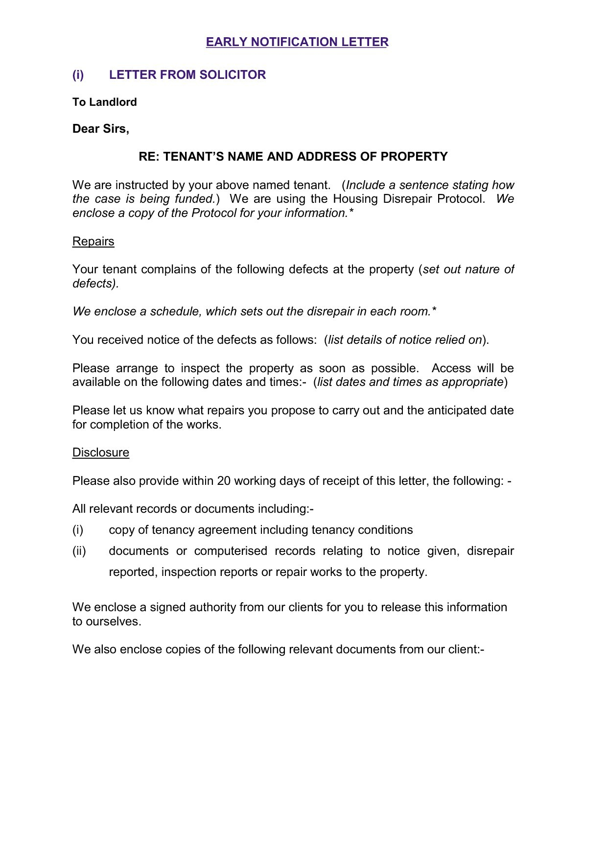 letter analysis settlement offer letter template examples letter 15106 | property inspection letter to tenant uk archives new property of property inspection letter to tenant template