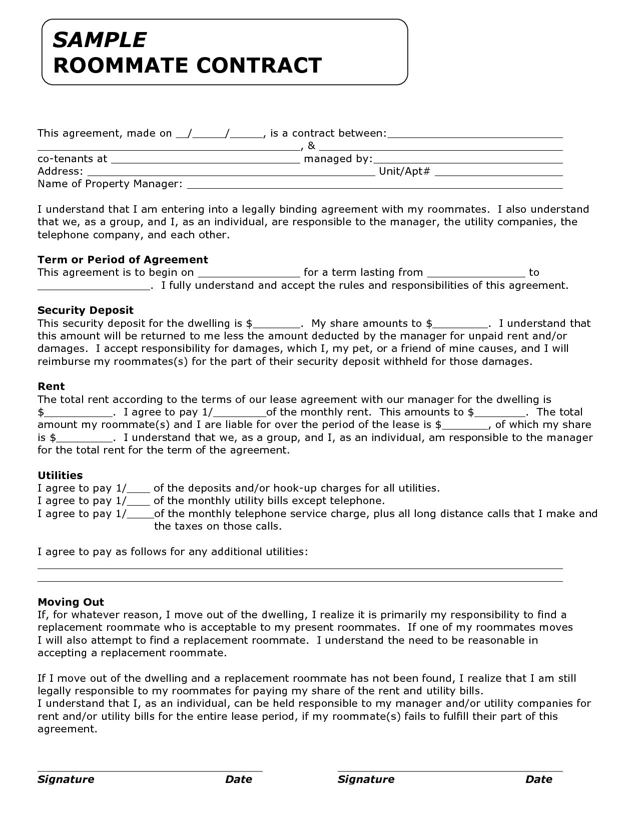 Lease Letter Template - Property Lease Contract Best Separation Agreement form Best 0d