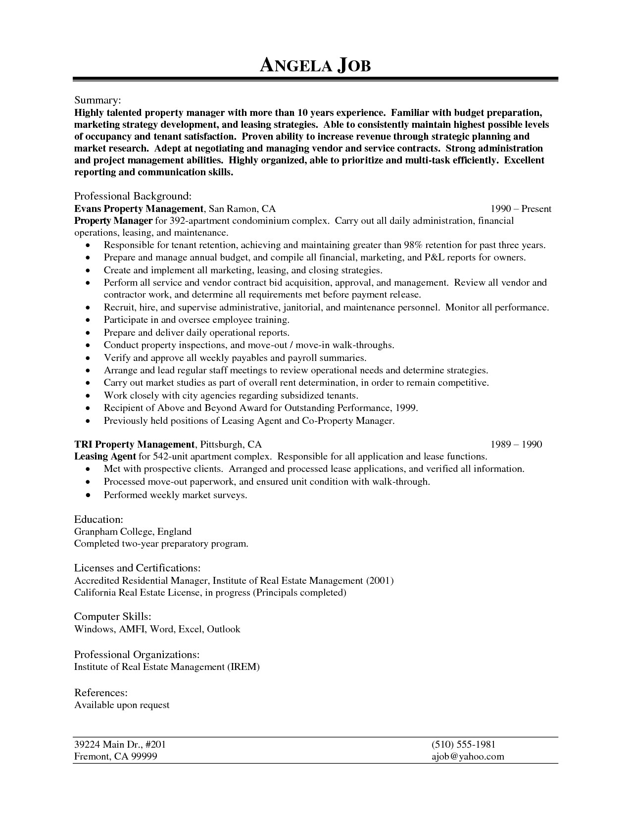 New Management Letter to Tenants Template - Property Management Resume Template Fresh Email Marketing Resume