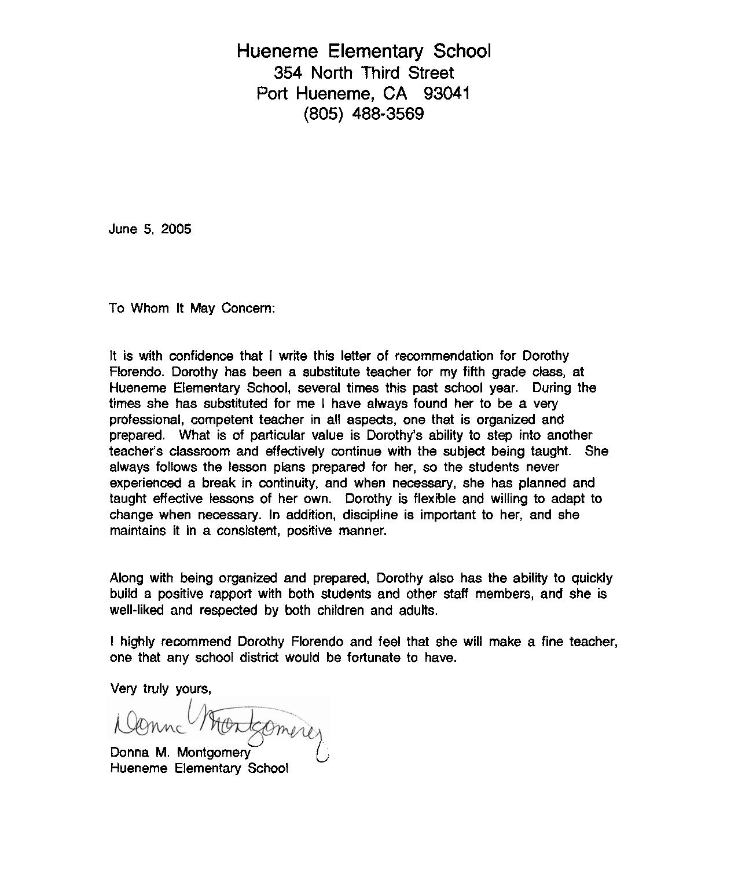 Recommendation Letter for Student From Teacher Template - Re Mendation Letter Sample for Teacher From Student