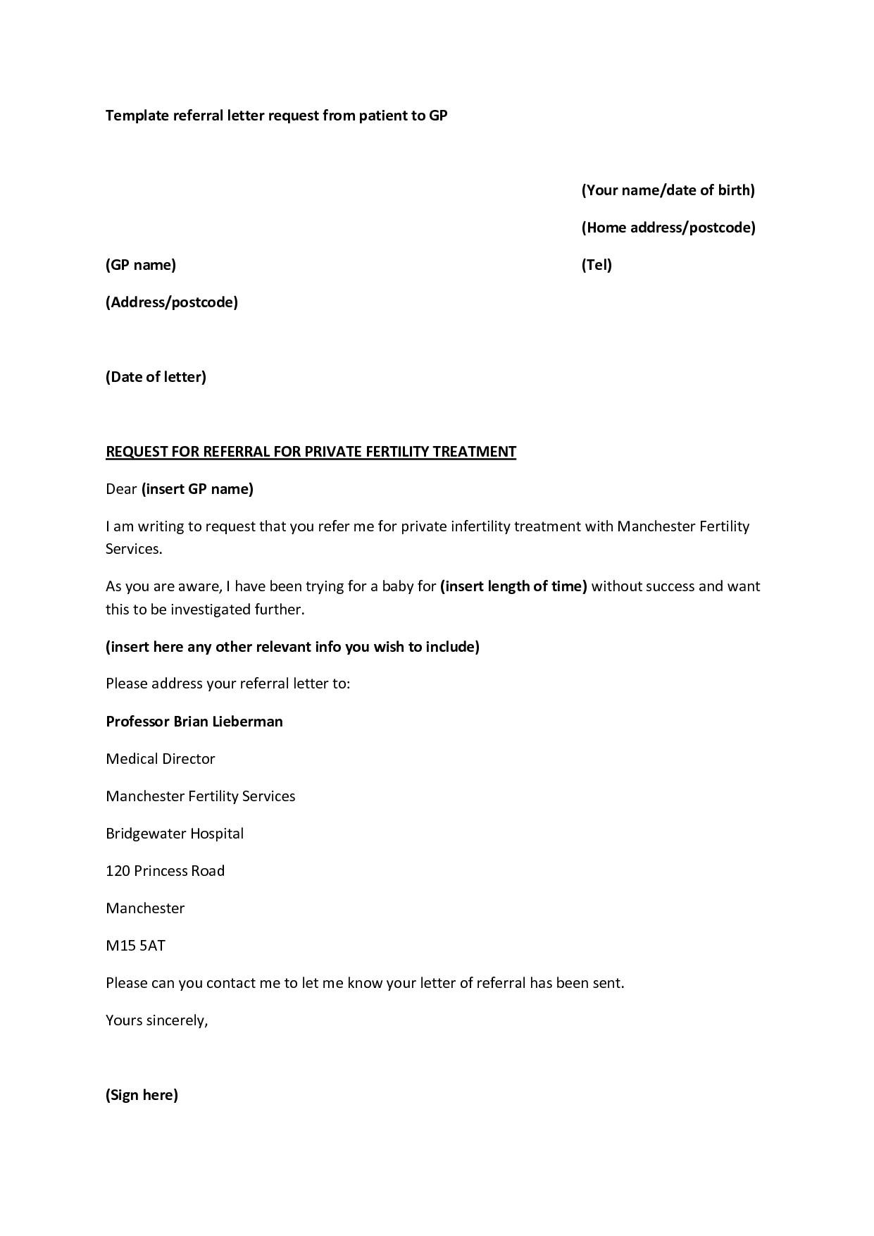 Medical Referral Letter Template - Re Mendation Letter Template Medical Residency Copy Sample Medical