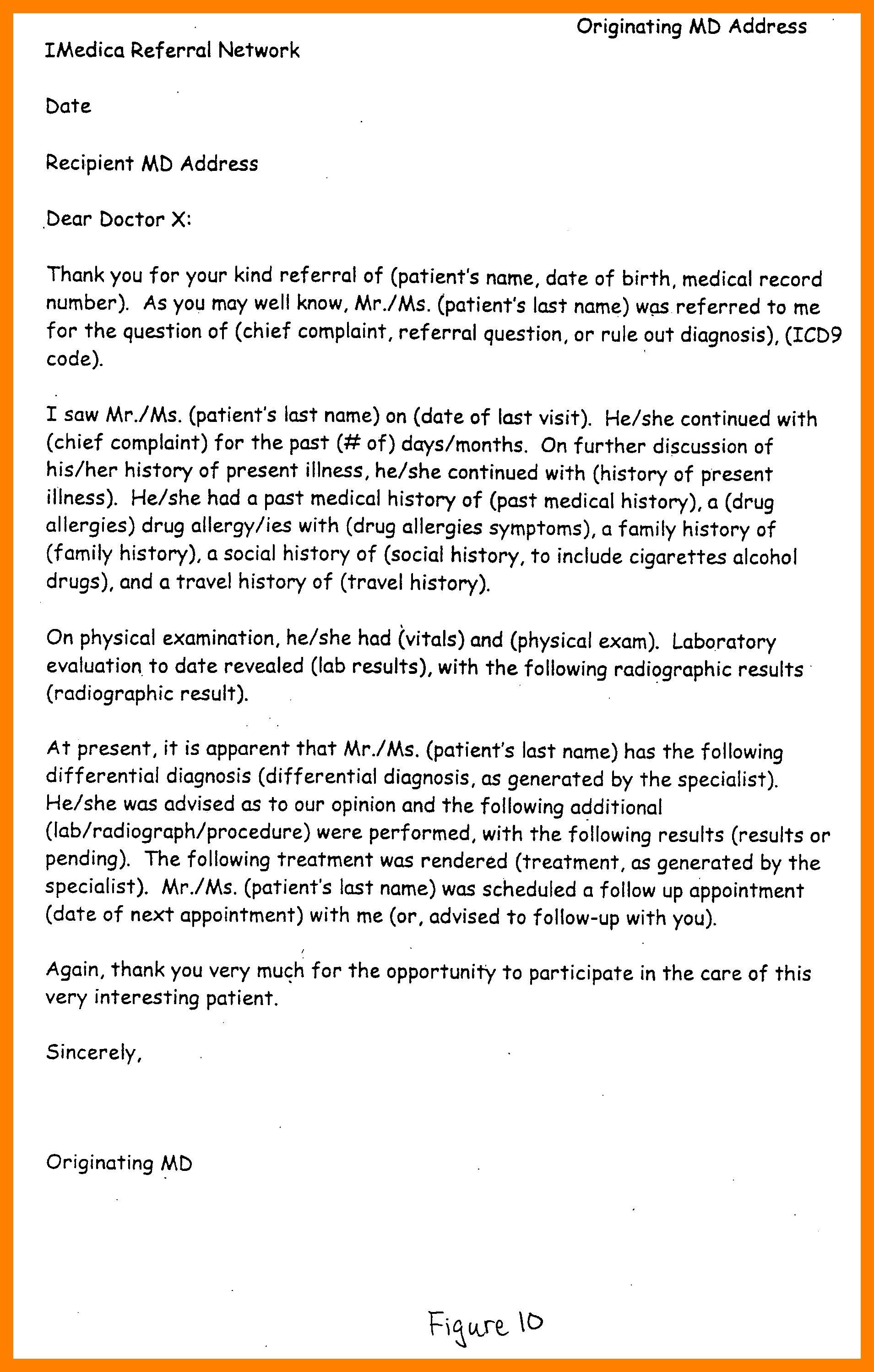 Sample Doctor Referral Letter Template - Re Mendation Letter Template Medical Residency Copy Sample Medical