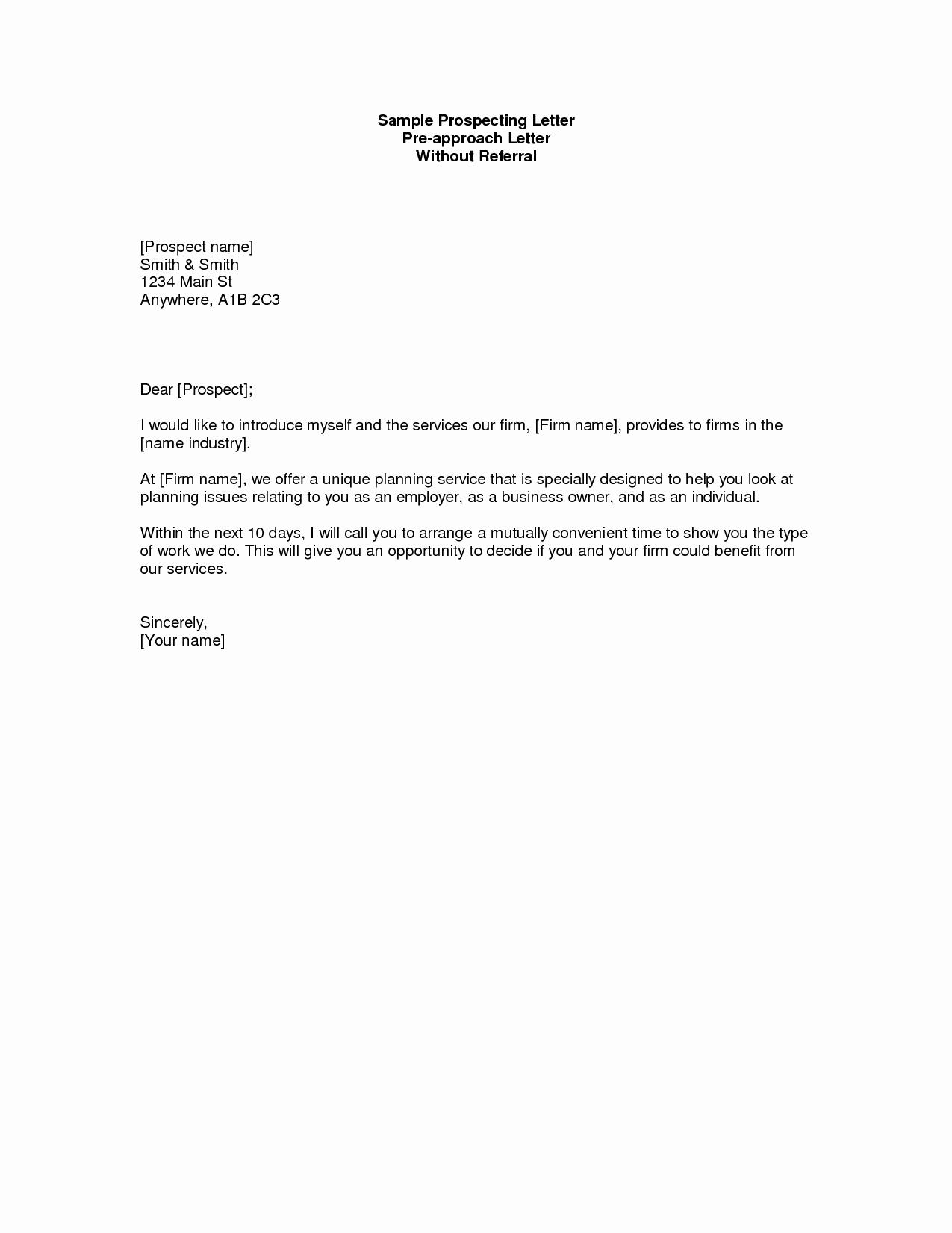 Real Estate Prospecting Letter Template - Real Estate Prospecting Letters Samples Beautiful Prospecting Letter