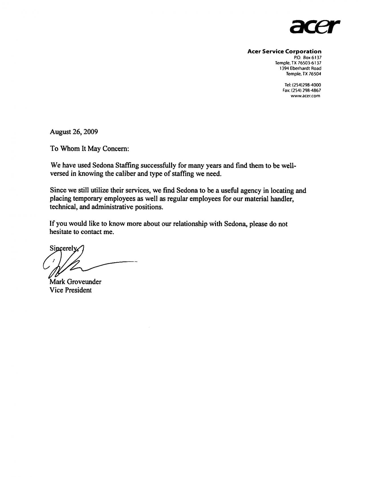 Customer Reference Letter Template - Reference Letter for Client Image Collections Letter format formal