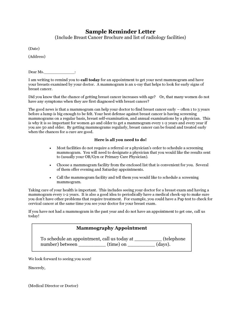Appointment Reminder Letter Template Medical - Referral Letter to Gp Template