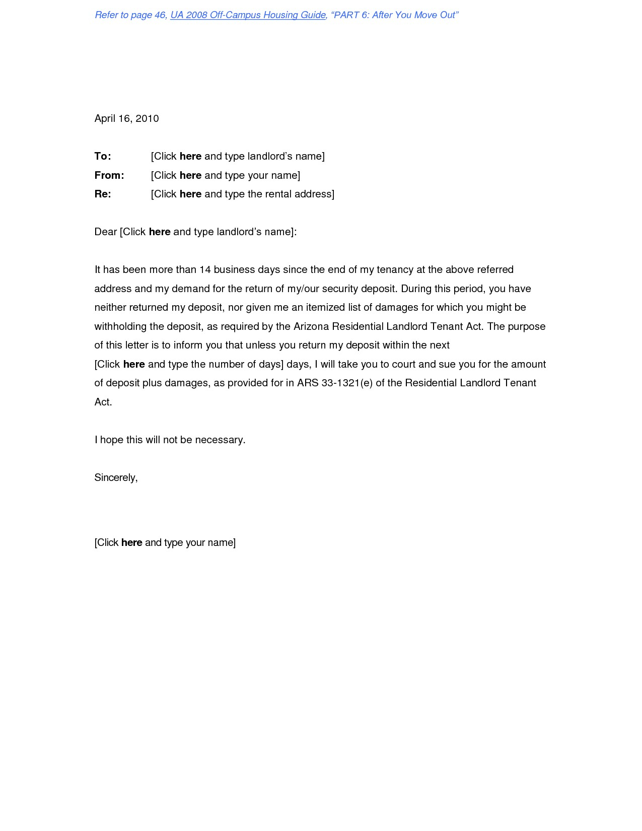 Security Deposit Demand Letter Template - Refund Receipt Template Security Deposit form Letter Re Security
