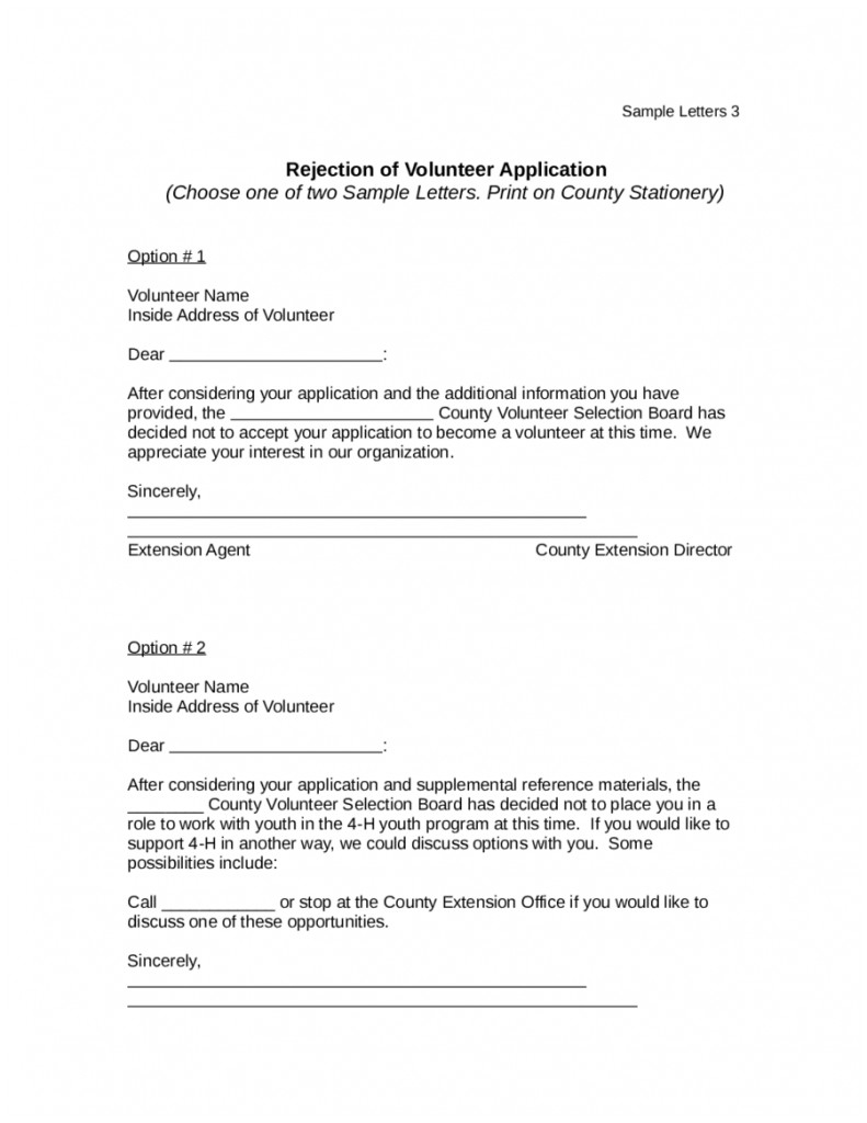 Rejection Letter Template after Interview Collection   Letter
