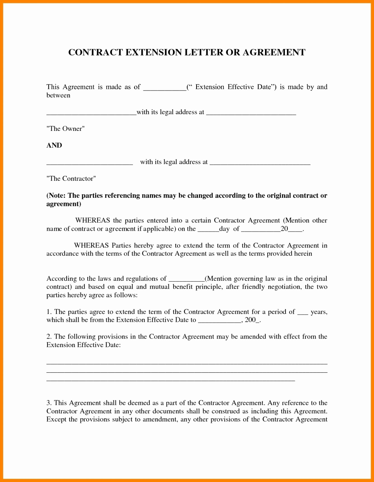 Letter Of Agreement Template Between Two Parties - Renewal Lease Agreement Template 19 Partnership Agreement California