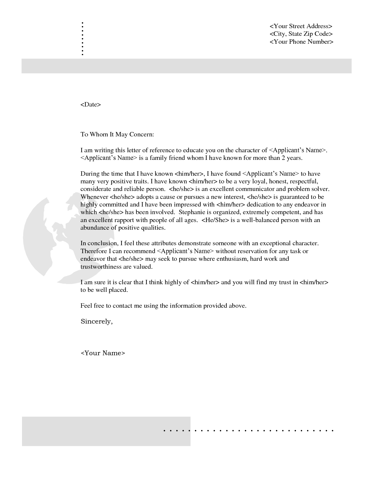 Free Rental Reference Letter Template - Rental Reference Letter From Friend Pdf format