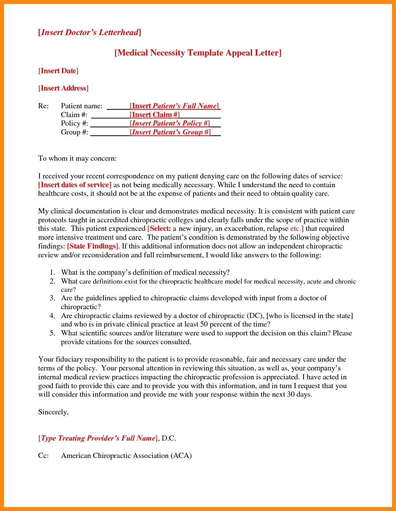 Medical Claim Appeal Letter Template - Request Letter format for Medical Reimbursement Best 9 Sample Appeal