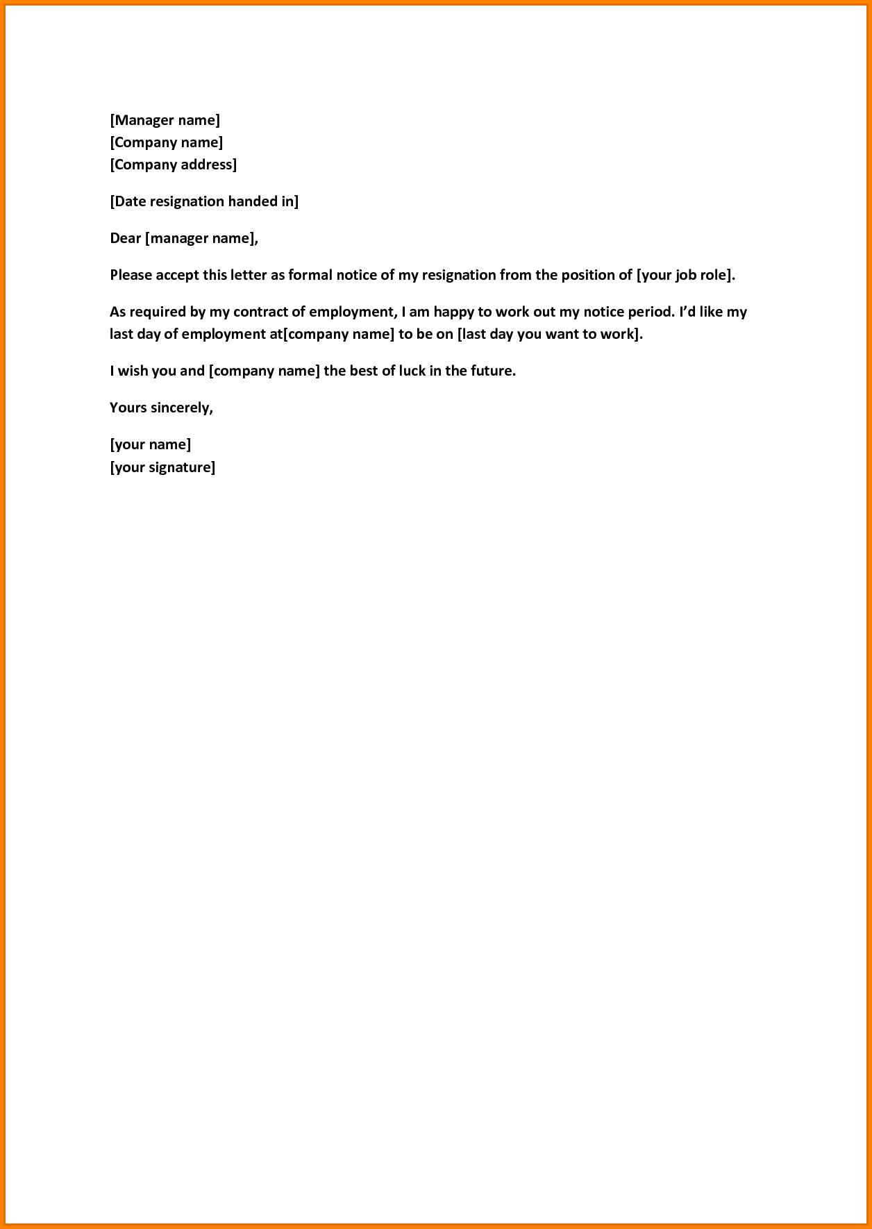 Retirement Letter to Employer Template Samples | Letter