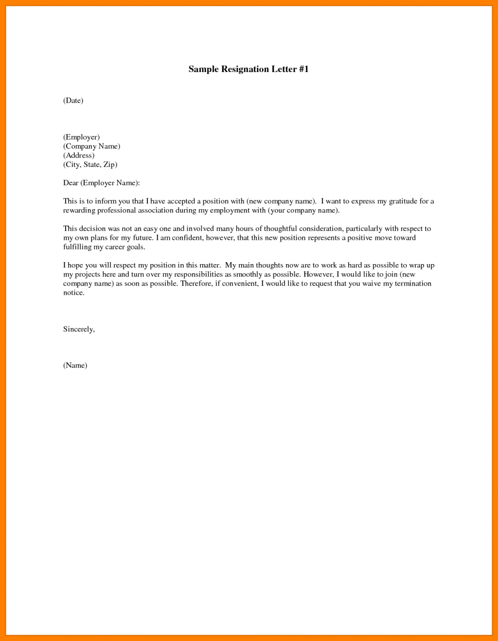 Free Resignation Letter Template Microsoft Word Download ...