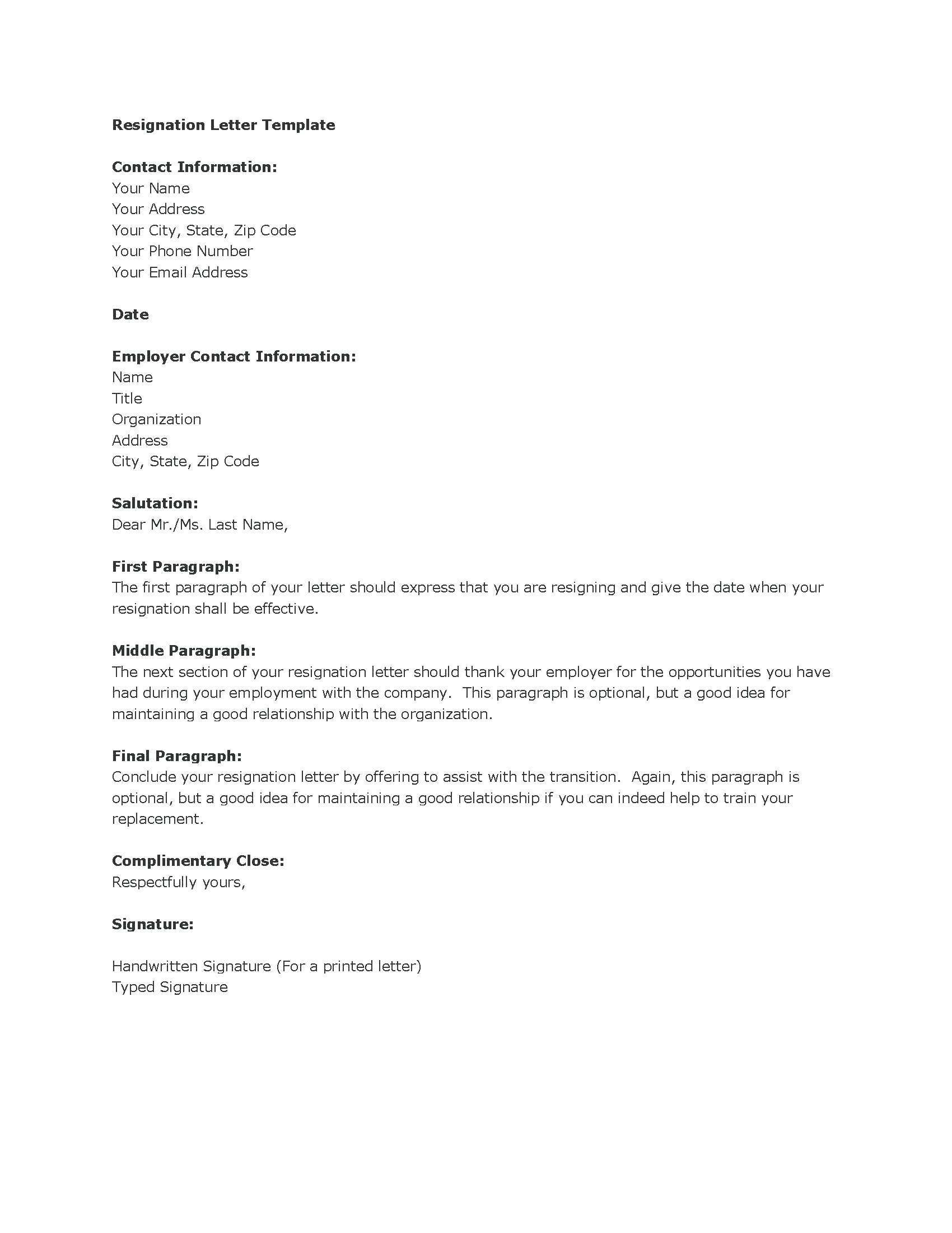 Microsoft Office Resignation Letter Template - Resignation Letter In Ms Word Sarahepps