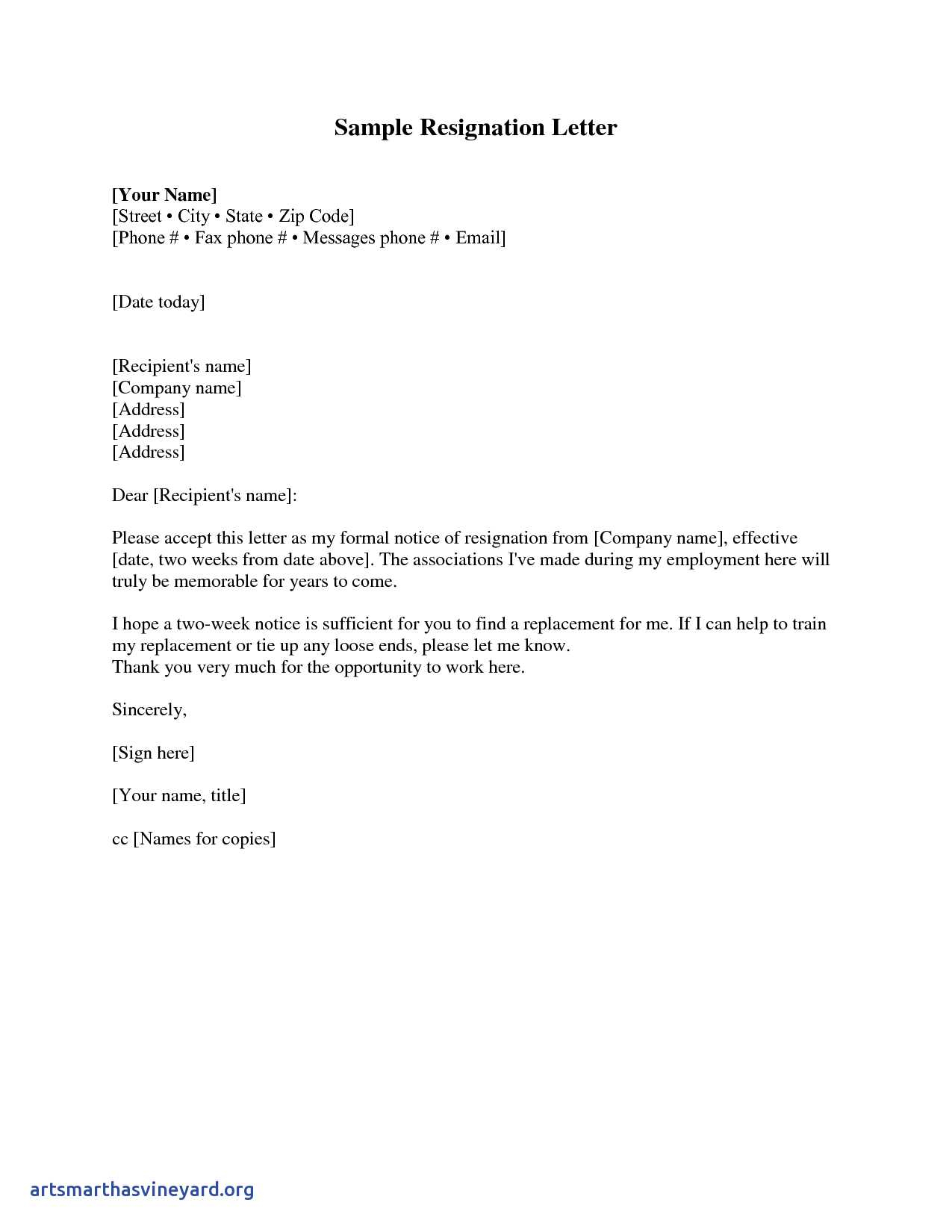 Resignation Letter Template Free Download - Resignation Letter Sample 2 Weeks Notice Free2img From Two Week