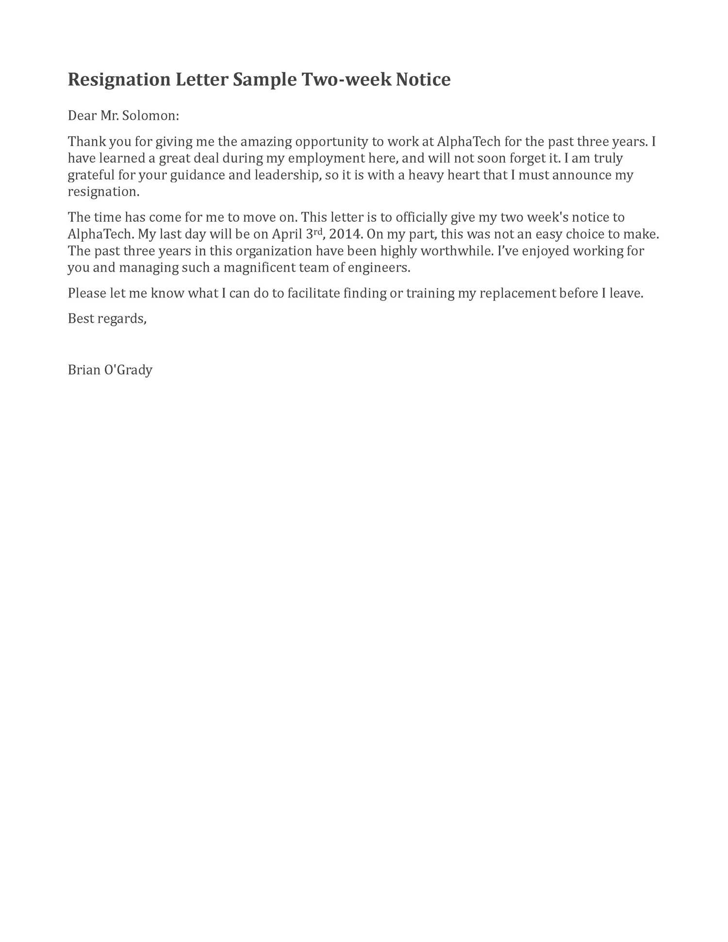 Short Resignation Letter Template - Resignation Letter Sample 2 Weeks Notice Google Search