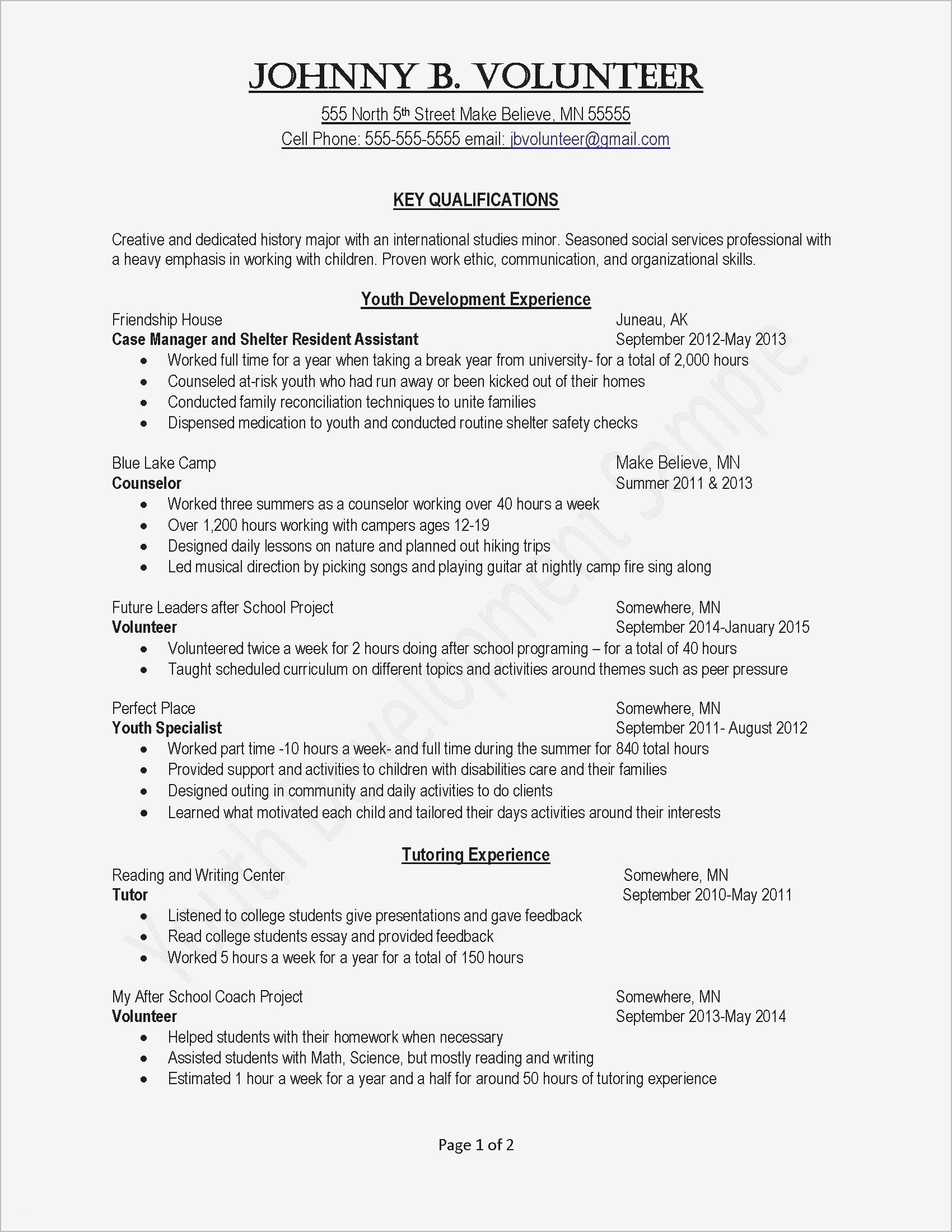 Cover Letter Template for It Job - Resume and Cover Letter Template Elegant Activities Resume Template