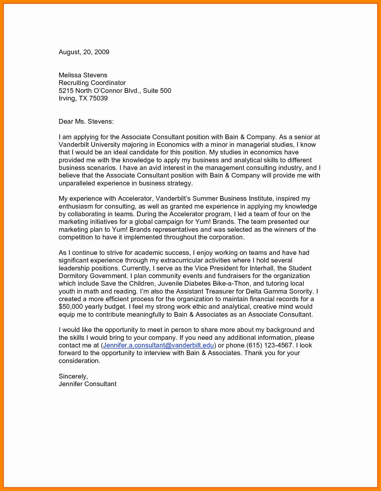 Free Modern Cover Letter Template - Resume Cover Letter Template Free Awesome Od Consultant Cover Letter