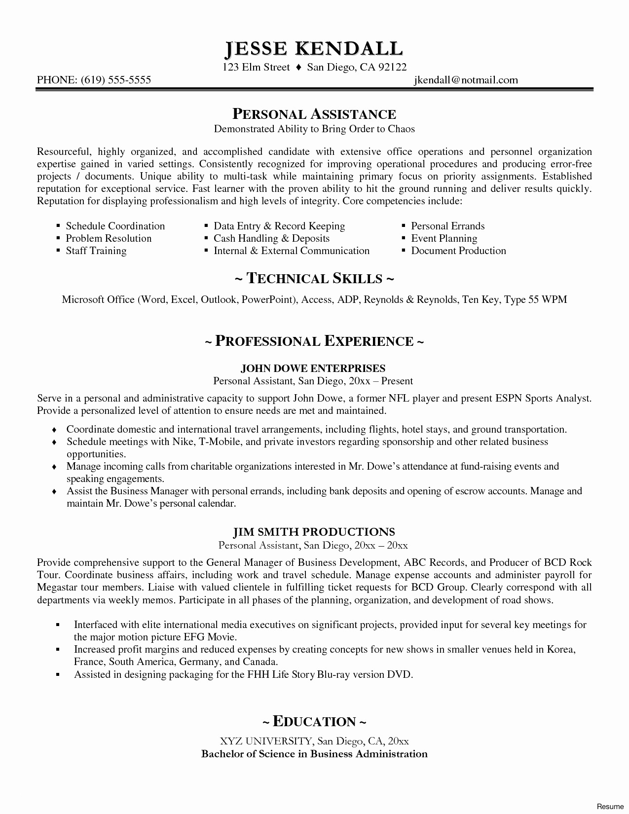 Personal Cover Letter Template - Resume Cover Letter Template Word Best Accounts Executive Resume