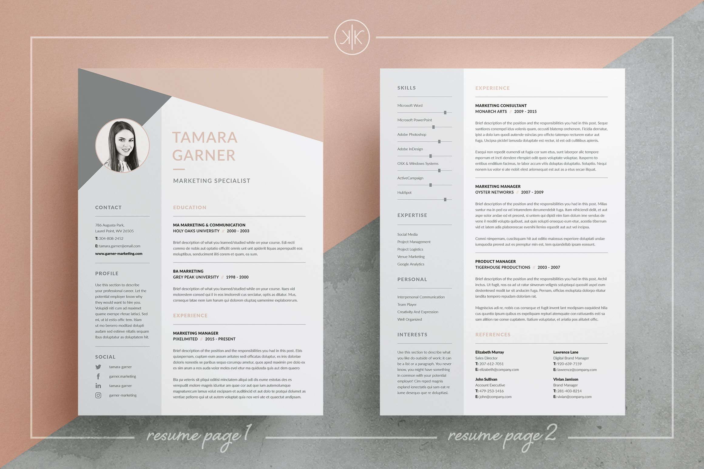 Indesign Cover Letter Template - Resume Cv 3 Page Design Cover Letter Templates